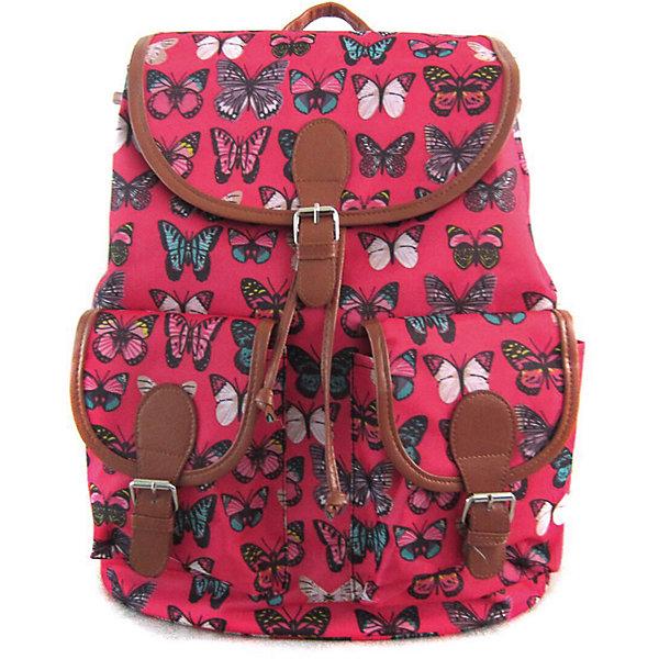 Рюкзак Махаоны с 2-мя карманами, цвет розовыйРюкзаки<br>Характеристики товара:<br><br>• цвет: розовый;<br>• возраст: от 7 лет;<br>• особенности рюкзака: с принтом;<br>• вес: 0,5 кг;<br>• размер: 39х35х17 см;<br>• материал: полиэстер;<br>• затягивается на шнурок;<br>• сверху клапан застегивается;<br>• два кармана;<br>• лямки и фурнитура с отделкой из экокожи;<br>• страна бренда: США;<br>• страна изготовитель: Китай.<br><br>Стильный рюкзак с яркой расцветкой предназначен для студентов, школьников и всех любителей носить сумки за спиной.<br><br>Рюкзак имеет классический крой, застежку на клапан и двая карманами впереди. Лямки регулируются по высоте. Все швы и застежки рюкзака надежно и крепко пришиты.<br><br>Рюкзак «Махаоны» с 2-мя карманами можно купить в нашем интернет-магазине.<br><br>Ширина мм: 390<br>Глубина мм: 350<br>Высота мм: 170<br>Вес г: 500<br>Возраст от месяцев: 84<br>Возраст до месяцев: 720<br>Пол: Унисекс<br>Возраст: Детский<br>SKU: 7054039