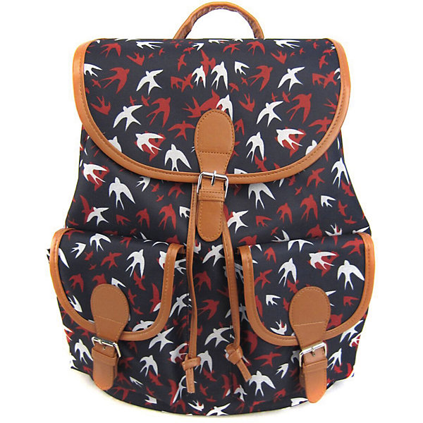 Рюкзак Ласточки с 2-мя карманами, цвет темно-синийРюкзаки<br>Характеристики товара:<br><br>• цвет: темно - синий;<br>• возраст: от 7 лет;<br>• особенности рюкзака: с принтом;<br>• вес: 0,5 кг;<br>• размер: 39х35х17 см;<br>• материал: полиэстер;<br>• затягивается на шнурок;<br>• сверху клапан застегивается;<br>• два кармана;<br>• лямки и фурнитура с отделкой из экокожи;<br>• страна бренда: США;<br>• страна изготовитель: Китай.<br><br>Стильный рюкзак с яркой расцветкой предназначен для студентов, школьников и всех любителей носить сумки за спиной.<br><br>Рюкзак имеет классический крой, застежку на клапан и двая карманами впереди. Лямки регулируются по высоте. Все швы и застежки рюкзака надежно и крепко пришиты.<br><br>Рюкзак «Ласточки» с 2-мя карманами можно купить в нашем интернет-магазине.<br><br>Ширина мм: 390<br>Глубина мм: 350<br>Высота мм: 170<br>Вес г: 500<br>Возраст от месяцев: 84<br>Возраст до месяцев: 720<br>Пол: Унисекс<br>Возраст: Детский<br>SKU: 7054040