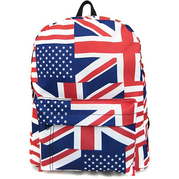 Рюкзак British Flag с 1 карманом, цвет мультиРюкзаки<br>Характеристики товара:<br><br>• цвет: мульти;<br>• возраст: от 7 лет;<br>• особенности рюкзака: большой, легкий, с принтом;<br>• вес: 0,3 кг;<br>• размер: 40х32х13 см;<br>• материал: полиэстер;<br>• усиленная спинка и дно рюкзака;<br>• лямки регулируются по росту; <br>• основное отделение на молнии;<br>• карман на лицевой стороне рюкзака;<br>• страна бренда: США;<br>• страна изготовитель: Китай.<br><br>Рюкзак «British Flag» - очень удобная и вместительная модель. <br><br>Лямки регулируются по росту. Просторный внутренний отсек, наружний карман на молнии будут очень удобны в использовании. Благодаря текстильной ручке рюкзак можно повесить. Выполнен рюкзак из влагостойкой ткани. <br><br>Рюкзак «British Flag» с 1 карманом можно купить в нашем интернет-магазине.<br>Ширина мм: 400; Глубина мм: 320; Высота мм: 130; Вес г: 300; Возраст от месяцев: 84; Возраст до месяцев: 720; Пол: Унисекс; Возраст: Детский; SKU: 7054046;