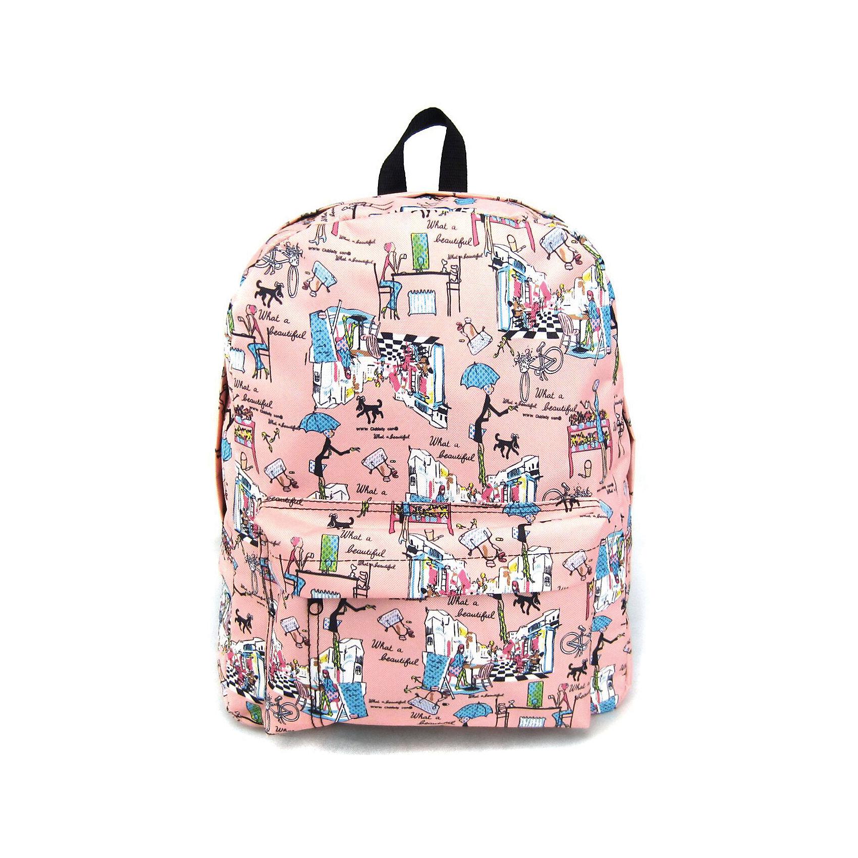 Рюкзак Модница с 1 карманом, цвет розовыйРюкзаки<br>Вес: 0,3 кг<br>Размер: 40х32х13 см<br>Состав: рюкзак<br>Наличие светоотражающих элементов: нет<br>Материал: полиэстер<br><br>Ширина мм: 400<br>Глубина мм: 320<br>Высота мм: 130<br>Вес г: 300<br>Возраст от месяцев: 84<br>Возраст до месяцев: 720<br>Пол: Унисекс<br>Возраст: Детский<br>SKU: 7054047
