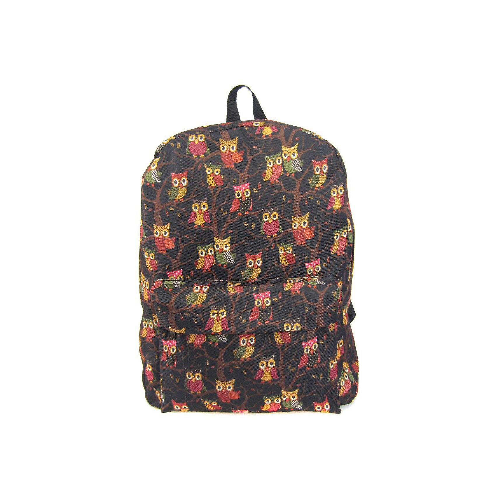 Рюкзак Филины с 1 карманом, цвет черныйРюкзаки<br>Вес: 0,3 кг<br>Размер: 40х32х13 см<br>Состав: рюкзак<br>Наличие светоотражающих элементов: нет<br>Материал: полиэстер<br><br>Ширина мм: 400<br>Глубина мм: 320<br>Высота мм: 130<br>Вес г: 300<br>Возраст от месяцев: 84<br>Возраст до месяцев: 720<br>Пол: Унисекс<br>Возраст: Детский<br>SKU: 7054048