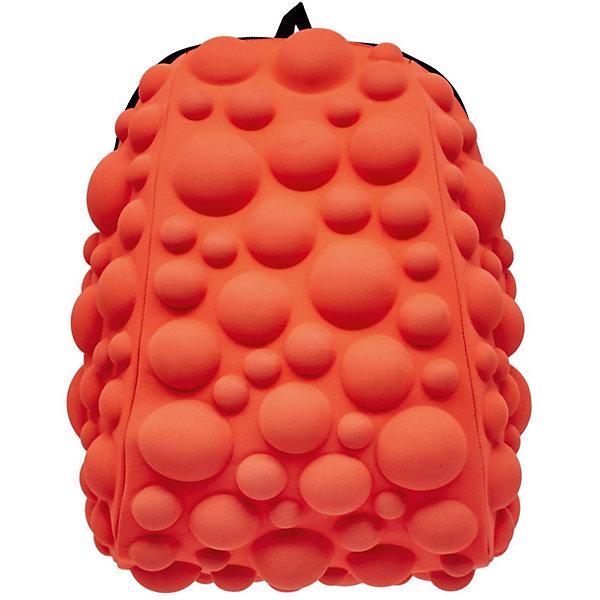 Рюкзак Bubble Half, цвет NEON оранжево-персиковыйРюкзаки<br>Характеристики товара:<br><br>• цвет: Neon оранжево - персиковый;<br>• возраст: от 3 лет;<br>• особенности модели: с пузырями;<br>• вес: 0,6 кг;<br>• размер: 36х31х15 см;<br>• материал: полиспандекс; <br>• ортопедическая спинка;<br>• страна бренда: США;<br>• страна изготовитель: Китай.<br><br>Яркие стильные и современные рюкзаки с пузырьками от американского бренда MadPax станут неотъемлемой частью модного образа вашего ребенка.<br><br>Рюкзак довольно вместительный, внутри два отделения: большое и поменьше для папки формата А4 или планшета с диагональю до 13 дюймов.  Эргономичные ручки дают возможность без лишних усилий переносить тяжелый рюкзак за спиной. <br><br>Лямки оснащены фиксатором в области груди. Вентилируемым материал на ортопедической спинке создаст комфорт. Этот рюкзак придаст индивидуальность и неповторимый стиль его владельцу.<br><br>Рюкзак «Bubble Half» можно купить в нашем интернет-магазине.<br>Ширина мм: 360; Глубина мм: 310; Высота мм: 150; Вес г: 600; Возраст от месяцев: 36; Возраст до месяцев: 720; Пол: Унисекс; Возраст: Детский; SKU: 7054059;