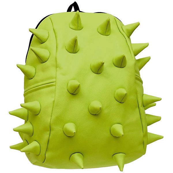 Рюкзак Rex 2 Half, цвет лаймРюкзаки<br>Характеристики товара:<br><br>• цвет: лайм / зеленый;<br>• возраст: от 3 лет;<br>• вес: 0,6 кг;<br>• размер: 36х30х15 см;<br>• особенности модели: с пузырями;<br>• основное отделение на молнии;<br>• в основное отделение с легкостью входит ноутбук размером диагонали 13 дюймов, iPad и формат А4;<br>• мягкие регулируемые по высоте лямки;<br>• ортопедическую спинка;<br>• два дополнительных боковых кармана на молнии;<br>• материал: полиуретан;<br>• страна бренда: США;<br>• страна изготовитель: Китай.<br><br>Удобный и стильный рюкзак «Rex 2 Half» из огромной коллекции рюкзаков Madpax непременно понравится школьникам. Стильный шипованный дизайн и яркость цвета выделяют рюкзак среди остальных моделей. <br><br>Мягкие ремни регулируются в зависимости от роста ребенка, проветриваемая спинка и дополнительные карманы делают рюкзак максимально комфортным.<br><br>Материал не требует особого ухода, достаточно лишь протереть его влажной губкой, чтобы удалить загрязнение.<br><br>Рюкзак «Rex 2 Half» можно купить в нашем интернет-магазине.<br>Ширина мм: 360; Глубина мм: 310; Высота мм: 150; Вес г: 600; Возраст от месяцев: 36; Возраст до месяцев: 720; Пол: Унисекс; Возраст: Детский; SKU: 7054065;
