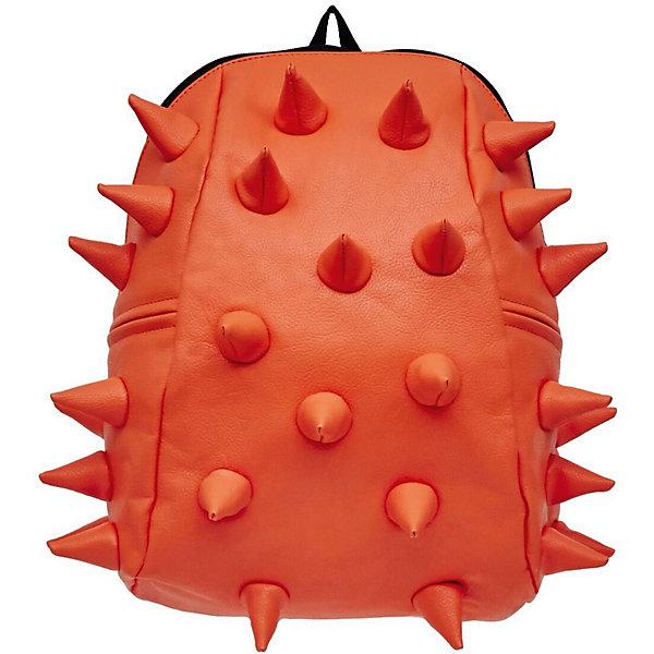 Рюкзак Rex 2 Half, цвет оранжевыйРюкзаки<br>Характеристики товара:<br><br>• цвет: оранжевый;<br>• возраст: от 3 лет;<br>• вес: 0,6 кг;<br>• размер: 36х30х15 см;<br>• особенности модели: с пузырями;<br>• основное отделение на молнии;<br>• в основное отделение с легкостью входит ноутбук размером диагонали 13 дюймов, iPad и формат А4;<br>• мягкие регулируемые по высоте лямки;<br>• ортопедическую спинка;<br>• два дополнительных боковых кармана на молнии;<br>• материал: полиуретан;<br>• страна бренда: США;<br>• страна изготовитель: Китай.<br><br>Удобный и стильный рюкзак «Rex 2 Half» из огромной коллекции рюкзаков Madpax непременно понравится школьникам. Стильный шипованный дизайн и яркость цвета выделяют рюкзак среди остальных моделей. <br><br>Мягкие ремни регулируются в зависимости от роста ребенка, проветриваемая спинка и дополнительные карманы делают рюкзак максимально комфортным.<br><br>Материал не требует особого ухода, достаточно лишь протереть его влажной губкой, чтобы удалить загрязнение.<br><br>Рюкзак «Rex 2 Half» можно купить в нашем интернет-магазине.<br><br>Ширина мм: 360<br>Глубина мм: 310<br>Высота мм: 150<br>Вес г: 600<br>Возраст от месяцев: 36<br>Возраст до месяцев: 720<br>Пол: Унисекс<br>Возраст: Детский<br>SKU: 7054067