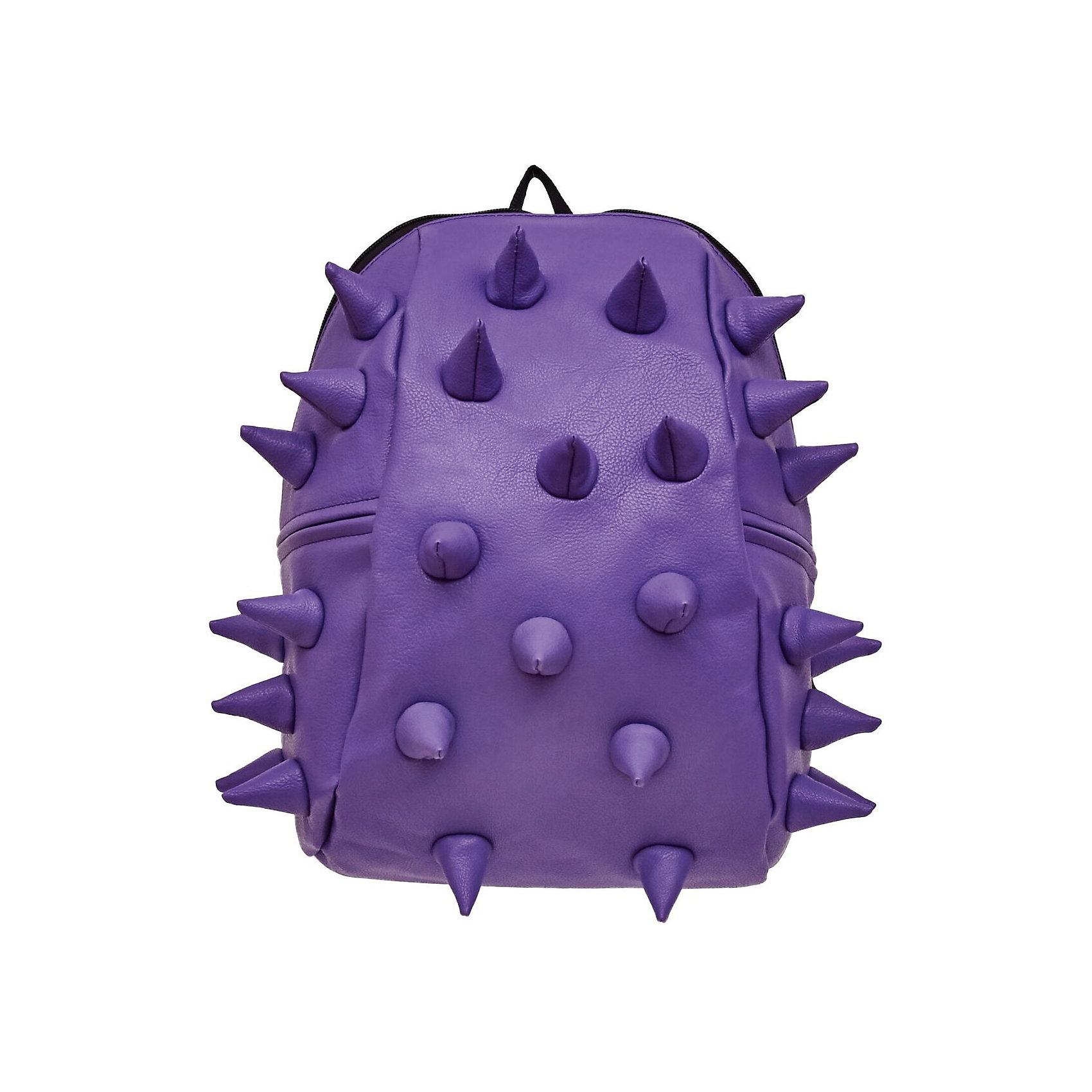 Рюкзак Rex 2 Half, цвет сиреневыйРюкзаки<br>Характеристики товара:<br><br>• цвет: сиреневый;<br>• возраст: от 3 лет;<br>• вес: 0,6 кг;<br>• размер: 36х30х15 см;<br>• особенности модели: с пузырями;<br>• основное отделение на молнии;<br>• в основное отделение с легкостью входит ноутбук размером диагонали 13 дюймов, iPad и формат А4;<br>• мягкие регулируемые по высоте лямки;<br>• ортопедическую спинка;<br>• два дополнительных боковых кармана на молнии;<br>• материал: полиуретан;<br>• страна бренда: США;<br>• страна изготовитель: Китай.<br><br>Удобный и стильный рюкзак «Rex 2 Half» из огромной коллекции рюкзаков Madpax непременно понравится школьникам. Стильный шипованный дизайн и яркость цвета выделяют рюкзак среди остальных моделей. <br><br>Мягкие ремни регулируются в зависимости от роста ребенка, проветриваемая спинка и дополнительные карманы делают рюкзак максимально комфортным.<br><br>Материал не требует особого ухода, достаточно лишь протереть его влажной губкой, чтобы удалить загрязнение.<br><br>Рюкзак «Rex 2 Half» можно купить в нашем интернет-магазине.<br><br>Ширина мм: 360<br>Глубина мм: 310<br>Высота мм: 150<br>Вес г: 600<br>Возраст от месяцев: 36<br>Возраст до месяцев: 720<br>Пол: Унисекс<br>Возраст: Детский<br>SKU: 7054070