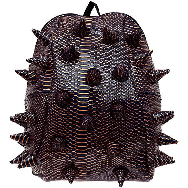Рюкзак Gator Half, LUXE, цвет синий с золотомРюкзаки<br>Характеристики товара:<br><br>• цвет: синий с золотом;<br>• возраст: от 3 лет;<br>• вес: 0,6 кг;<br>• размер: 36х31х15 см;<br>• особенности модели: с пузырями;<br>• большое отделение на молнии;<br>• дополнительный карман на задней стенке рюкзака;<br>• мягкие регулируемые лямки;<br>• ортопедическая спинка с вентиляцией;<br>• два дополнительных боковых кармана на молнии;<br>• материал: поливинил;<br>• страна бренда: США;<br>• страна изготовитель: Китай.<br><br>Удобный рюкзак для детей Madpax «Gator Full» непременно понравится детям. Малый вес рюкзака позволяет ребенку носить с собой все необходимое для учебы, при этом не перегружая позвоночник. Стильный шипованный дизайн с имитацией кожи рептилий выделяют рюкзак Мэдпакс Гатор Фулл среди аналогичных моделей. <br><br>Удобное расположение дополнительных кармашков позволяет ребенку с легкостью доставать необходимые ему вещи. Специальная спинка рюкзака Гатор Фулл обеспечивает постоянную вентиляцию спины. Мягкие ремни регулируются в зависимости от роста ребенка. Рюкзак «Gator Full» – это стильная и удобная модель, которая предназначена для ежедневного ношения. <br><br>Рюкзак «Gator Full» можно купить в нашем интернет-магазине.<br>Ширина мм: 360; Глубина мм: 310; Высота мм: 150; Вес г: 600; Возраст от месяцев: 36; Возраст до месяцев: 720; Пол: Унисекс; Возраст: Детский; SKU: 7054078;
