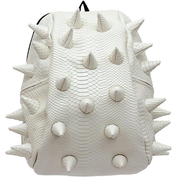 Рюкзак Gator Half, LUXE White, цвет белыйРюкзаки<br>Характеристики товара:<br><br>• цвет: белый;<br>• возраст: от 3 лет;<br>• вес: 0,6 кг;<br>• размер: 36х31х15 см;<br>• особенности модели: с пузырями;<br>• большое отделение на молнии;<br>• дополнительный карман на задней стенке рюкзака;<br>• мягкие регулируемые лямки;<br>• ортопедическая спинка с вентиляцией;<br>• два дополнительных боковых кармана на молнии;<br>• материал: поливинил;<br>• страна бренда: США;<br>• страна изготовитель: Китай.<br><br>Удобный рюкзак для детей Madpax «Gator Full» непременно понравится детям. Малый вес рюкзака позволяет ребенку носить с собой все необходимое для учебы, при этом не перегружая позвоночник. Стильный шипованный дизайн с имитацией кожи рептилий выделяют рюкзак Мэдпакс Гатор Фулл среди аналогичных моделей. <br><br>Удобное расположение дополнительных кармашков позволяет ребенку с легкостью доставать необходимые ему вещи. Специальная спинка рюкзака Гатор Фулл обеспечивает постоянную вентиляцию спины. Мягкие ремни регулируются в зависимости от роста ребенка. Рюкзак «Gator Full» – это стильная и удобная модель, которая предназначена для ежедневного ношения. <br><br>Рюкзак «Gator Full» можно купить в нашем интернет-магазине.<br><br>Ширина мм: 360<br>Глубина мм: 310<br>Высота мм: 150<br>Вес г: 600<br>Возраст от месяцев: 36<br>Возраст до месяцев: 720<br>Пол: Унисекс<br>Возраст: Детский<br>SKU: 7054080