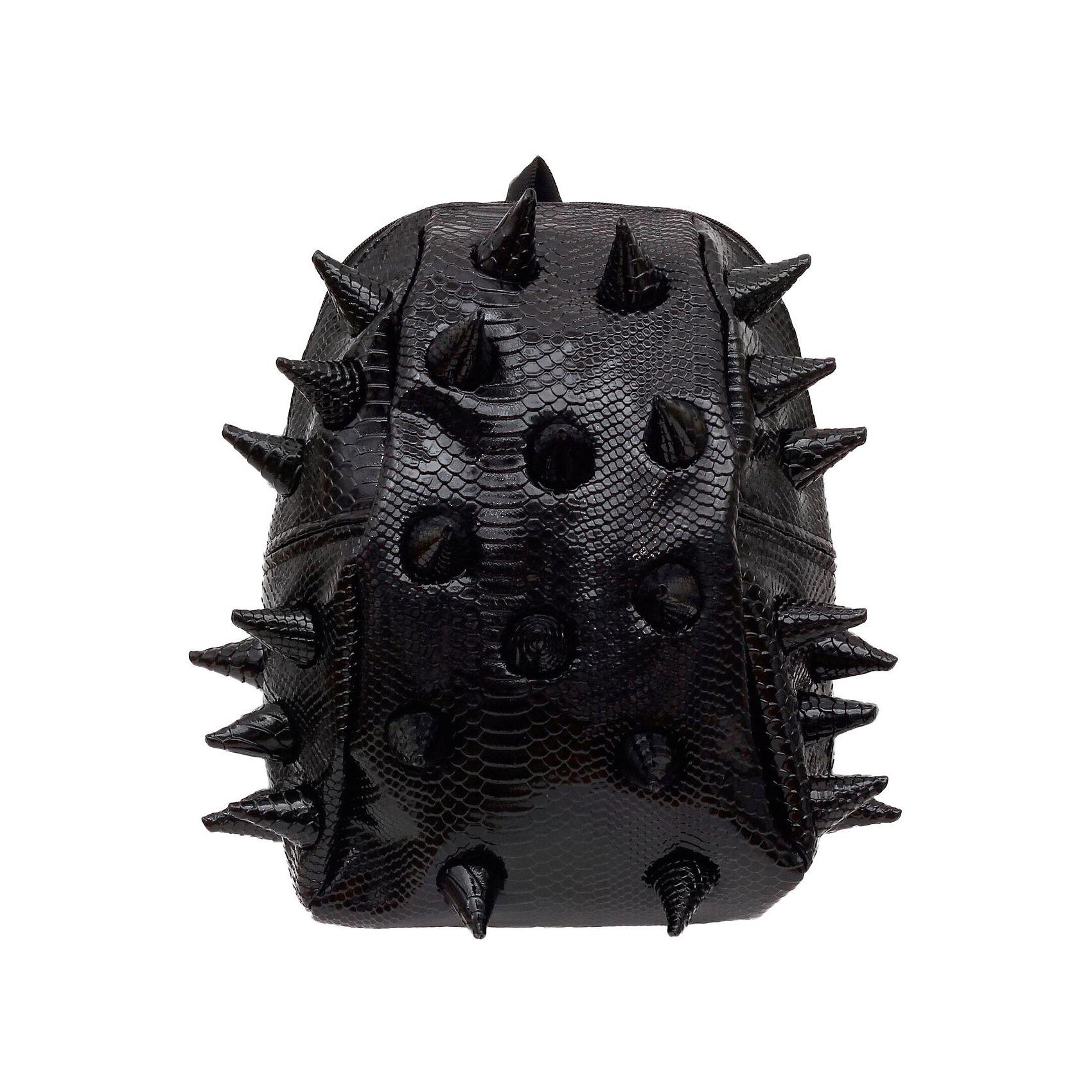 Рюкзак Gator Half, LUXE Black, цвет черныйРюкзаки<br>Характеристики товара:<br><br>• цвет: черный;<br>• возраст: от 3 лет;<br>• вес: 0,6 кг;<br>• размер: 36х31х15 см;<br>• особенности модели: с пузырями;<br>• большое отделение на молнии;<br>• дополнительный карман на задней стенке рюкзака;<br>• мягкие регулируемые лямки;<br>• ортопедическая спинка с вентиляцией;<br>• два дополнительных боковых кармана на молнии;<br>• материал: поливинил;<br>• страна бренда: США;<br>• страна изготовитель: Китай.<br><br>Удобный рюкзак для детей Madpax «Gator Full» непременно понравится детям. Малый вес рюкзака позволяет ребенку носить с собой все необходимое для учебы, при этом не перегружая позвоночник. Стильный шипованный дизайн с имитацией кожи рептилий выделяют рюкзак Мэдпакс Гатор Фулл среди аналогичных моделей. <br><br>Удобное расположение дополнительных кармашков позволяет ребенку с легкостью доставать необходимые ему вещи. Специальная спинка рюкзака Гатор Фулл обеспечивает постоянную вентиляцию спины. Мягкие ремни регулируются в зависимости от роста ребенка. Рюкзак «Gator Full» – это стильная и удобная модель, которая предназначена для ежедневного ношения. <br><br>Рюкзак «Gator Full» можно купить в нашем интернет-магазине.<br><br>Ширина мм: 360<br>Глубина мм: 310<br>Высота мм: 150<br>Вес г: 600<br>Возраст от месяцев: 36<br>Возраст до месяцев: 720<br>Пол: Унисекс<br>Возраст: Детский<br>SKU: 7054082