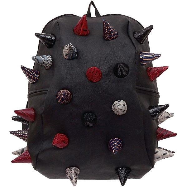 Рюкзак Gator Half, Black Multi, цвет черный мультиРюкзаки<br>Характеристики товара:<br><br>• цвет: черный мульти;<br>• возраст: от 3 лет;<br>• вес: 0,6 кг;<br>• размер: 36х31х15 см;<br>• особенности модели: с пузырями;<br>• большое отделение на молнии;<br>• дополнительный карман на задней стенке рюкзака;<br>• мягкие регулируемые лямки;<br>• ортопедическая спинка с вентиляцией;<br>• два дополнительных боковых кармана на молнии;<br>• материал: поливинил;<br>• страна бренда: США;<br>• страна изготовитель: Китай.<br><br>Удобный рюкзак для детей Madpax «Gator Full» непременно понравится детям. Малый вес рюкзака позволяет ребенку носить с собой все необходимое для учебы, при этом не перегружая позвоночник. Стильный шипованный дизайн с имитацией кожи рептилий выделяют рюкзак Мэдпакс Гатор Фулл среди аналогичных моделей. <br><br>Удобное расположение дополнительных кармашков позволяет ребенку с легкостью доставать необходимые ему вещи. Специальная спинка рюкзака Гатор Фулл обеспечивает постоянную вентиляцию спины. Мягкие ремни регулируются в зависимости от роста ребенка. Рюкзак «Gator Full» – это стильная и удобная модель, которая предназначена для ежедневного ношения. <br><br>Рюкзак «Gator Full» можно купить в нашем интернет-магазине.<br>Ширина мм: 360; Глубина мм: 310; Высота мм: 150; Вес г: 600; Возраст от месяцев: 36; Возраст до месяцев: 720; Пол: Унисекс; Возраст: Детский; SKU: 7054085;