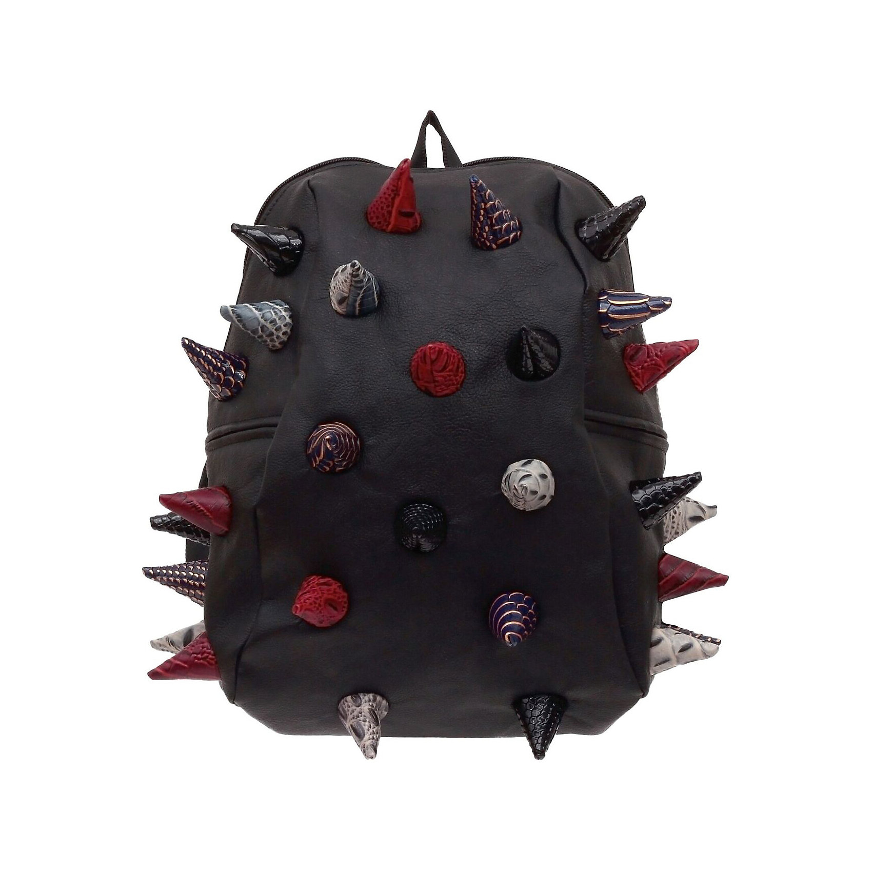 Рюкзак Gator Half, Black Multi, цвет черный мультиРюкзаки<br>Характеристики товара:<br><br>• цвет: черный мульти;<br>• возраст: от 3 лет;<br>• вес: 0,6 кг;<br>• размер: 36х31х15 см;<br>• особенности модели: с пузырями;<br>• большое отделение на молнии;<br>• дополнительный карман на задней стенке рюкзака;<br>• мягкие регулируемые лямки;<br>• ортопедическая спинка с вентиляцией;<br>• два дополнительных боковых кармана на молнии;<br>• материал: поливинил;<br>• страна бренда: США;<br>• страна изготовитель: Китай.<br><br>Удобный рюкзак для детей Madpax «Gator Full» непременно понравится детям. Малый вес рюкзака позволяет ребенку носить с собой все необходимое для учебы, при этом не перегружая позвоночник. Стильный шипованный дизайн с имитацией кожи рептилий выделяют рюкзак Мэдпакс Гатор Фулл среди аналогичных моделей. <br><br>Удобное расположение дополнительных кармашков позволяет ребенку с легкостью доставать необходимые ему вещи. Специальная спинка рюкзака Гатор Фулл обеспечивает постоянную вентиляцию спины. Мягкие ремни регулируются в зависимости от роста ребенка. Рюкзак «Gator Full» – это стильная и удобная модель, которая предназначена для ежедневного ношения. <br><br>Рюкзак «Gator Full» можно купить в нашем интернет-магазине.<br><br>Ширина мм: 360<br>Глубина мм: 310<br>Высота мм: 150<br>Вес г: 600<br>Возраст от месяцев: 36<br>Возраст до месяцев: 720<br>Пол: Унисекс<br>Возраст: Детский<br>SKU: 7054085