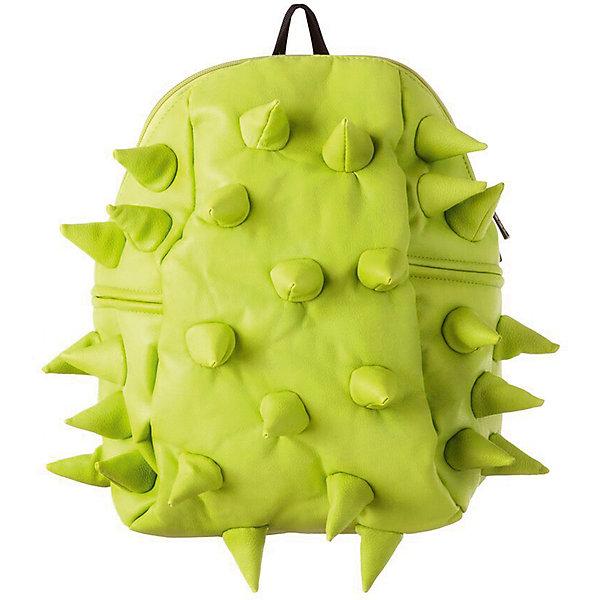 Рюкзак Rex Half, цвет Dinosour Lime (лайм)Рюкзаки<br>Характеристики товара:<br><br>• цвет: Dinosour Lime (лайм);<br>• возраст: от 3 лет;<br>• вес: 0,6 кг;<br>• размер: 36х30х15 см;<br>• особенности модели: с пузырями;<br>• основное отделение на молнии;<br>• в основное отделение с легкостью входит ноутбук размером диагонали 13 дюймов, iPad и формат А4;<br>• мягкие регулируемые по высоте лямки;<br>• ортопедическую спинка;<br>• два дополнительных боковых кармана на молнии;<br>• материал: полиуретан;<br>• страна бренда: США;<br>• страна изготовитель: Китай.<br><br>Удобный рюкзак для детей Madpax «Rex Half» непременно понравится детям, которые уже ходят в школу. Малый вес рюкзака позволяет ребенку носить с собой все необходимое для учебы, при этом не перегружая позвоночник. <br><br>Удобное расположение дополнительных кармашков позволяет ребенку с легкостью доставать необходимые ему вещи. Специальная спинка рюкзака Рекс Халф обеспечивает постоянную вентиляцию спины малыша. Мягкие ремни регулируются в зависимости от роста ребенка. Рюкзак «Rex Half» – это стильная и удобная модель, которая предназначена для ежедневного ношения.<br><br>Рюкзак Madpax «Rex Half» можно купить в нашем интернет-магазине.<br><br>Ширина мм: 360<br>Глубина мм: 300<br>Высота мм: 150<br>Вес г: 600<br>Возраст от месяцев: 36<br>Возраст до месяцев: 720<br>Пол: Унисекс<br>Возраст: Детский<br>SKU: 7054090
