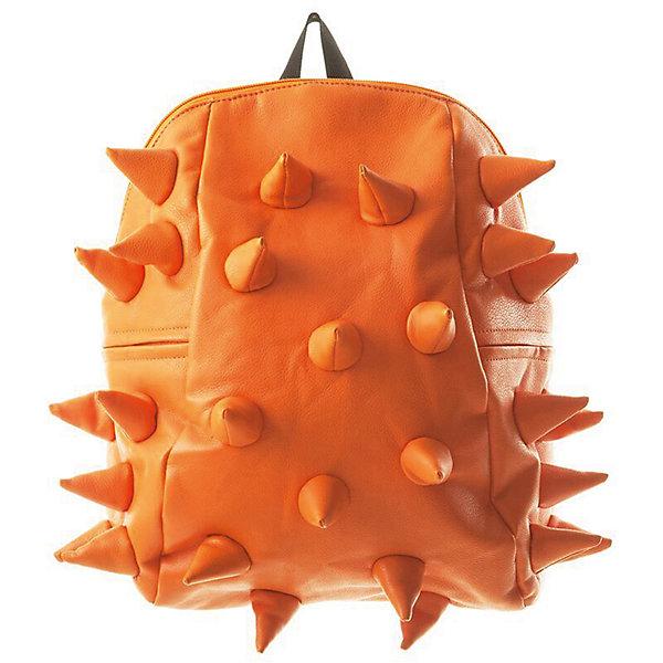 Рюкзак Rex Half, цвет Orange Peel (оранжевый)Рюкзаки<br>Характеристики товара:<br><br>• цвет: Orange Peel (оранжевый);<br>• возраст: от 3 лет;<br>• вес: 0,6 кг;<br>• размер: 36х30х15 см;<br>• особенности модели: с пузырями;<br>• основное отделение на молнии;<br>• в основное отделение с легкостью входит ноутбук размером диагонали 13 дюймов, iPad и формат А4;<br>• мягкие регулируемые по высоте лямки;<br>• ортопедическую спинка;<br>• два дополнительных боковых кармана на молнии;<br>• материал: полиуретан;<br>• страна бренда: США;<br>• страна изготовитель: Китай.<br><br>Удобный рюкзак для детей Madpax «Rex Half» непременно понравится детям, которые уже ходят в школу. Малый вес рюкзака позволяет ребенку носить с собой все необходимое для учебы, при этом не перегружая позвоночник. <br><br>Удобное расположение дополнительных кармашков позволяет ребенку с легкостью доставать необходимые ему вещи. Специальная спинка рюкзака Рекс Халф обеспечивает постоянную вентиляцию спины малыша. Мягкие ремни регулируются в зависимости от роста ребенка. Рюкзак «Rex Half» – это стильная и удобная модель, которая предназначена для ежедневного ношения.<br><br>Рюкзак Madpax «Rex Half» можно купить в нашем интернет-магазине.<br><br>Ширина мм: 360<br>Глубина мм: 300<br>Высота мм: 150<br>Вес г: 600<br>Возраст от месяцев: 36<br>Возраст до месяцев: 720<br>Пол: Унисекс<br>Возраст: Детский<br>SKU: 7054092