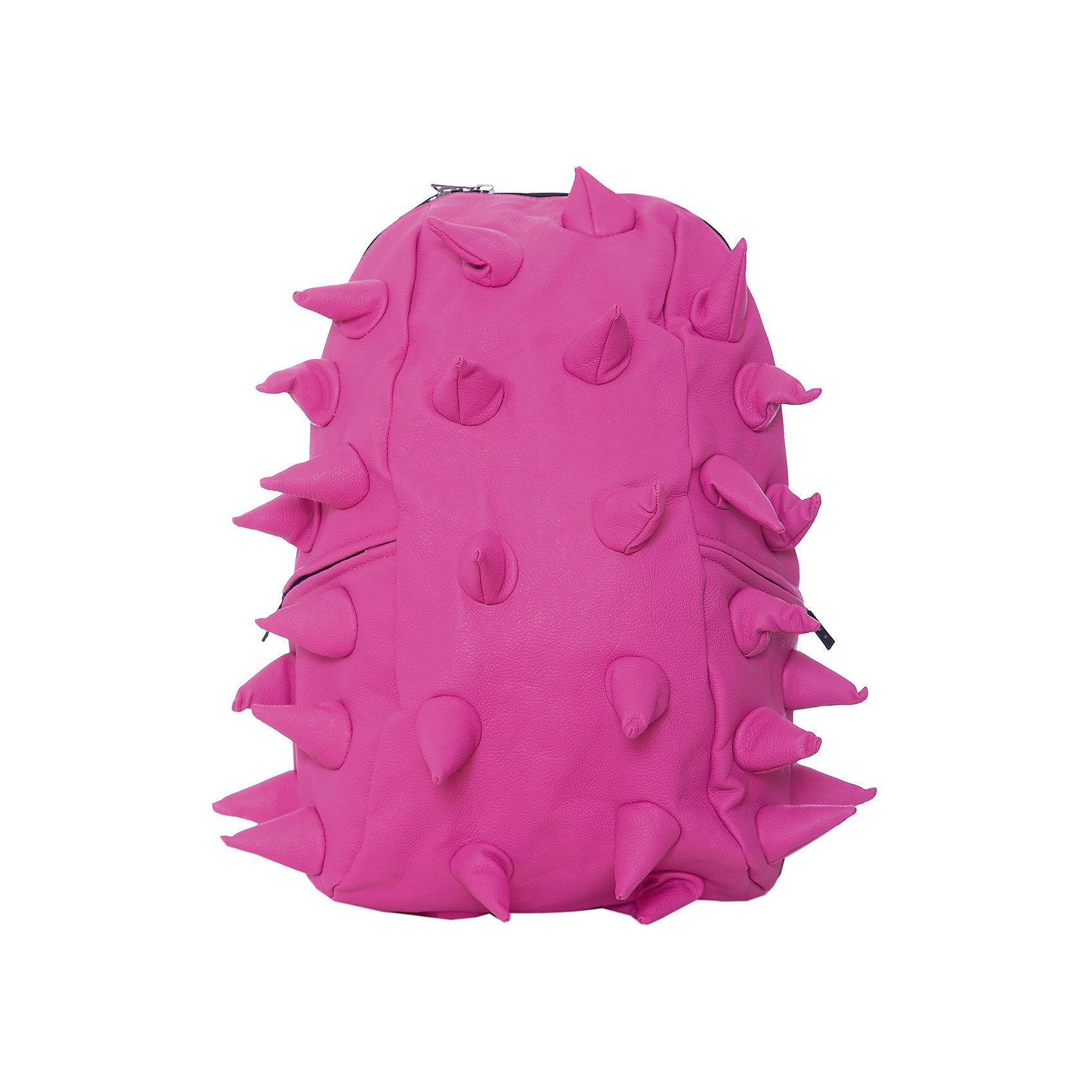 Рюкзак Rex Full, цвет Pink-A-Dot (розовый)Рюкзаки<br>Характеристики товара:<br><br>• цвет: Pink-A-Dot (розовый);<br>• возраст: от 5 лет;<br>• вес: 0,8 кг;<br>• размер: 46х35х20 см;<br>• особенности модели: с пузырями;<br>• основное отделение на молнии;<br>• дополнительный карман на задней стенке рюкзака;<br>• мягкие регулируемые по высоте лямки;<br>• спинка имеет ортопедическую форму;<br>• два дополнительных боковых кармана на молнии;<br>• материал: полиуретан;<br>• страна бренда: США;<br>• страна изготовитель: Китай.<br><br>Удобный рюкзак для детей Madpax «Rex Full» непременно понравится детям. Малый вес рюкзака позволяет ребенку носить с собой все необходимое для учебы, при этом не перегружая позвоночник. Стильный шипованный дизайн с имитацией кожи рептилий выделяют рюкзак Мэдпакс Рекс Фулл среди аналогичных моделей. <br><br>Удобное расположение дополнительных кармашков позволяет ребенку с легкостью доставать необходимые ему вещи. Специальная спинка рюкзака Рекс Фулл обеспечивает постоянную вентиляцию спины. Мягкие ремни регулируются в зависимости от роста ребенка. Рюкзак «Rex Full» – это стильная и удобная модель, которая предназначена для ежедневного ношения. <br><br>Рюкзак Madpax «Rex Full» можно купить в нашем интернет-магазине.<br><br>Ширина мм: 460<br>Глубина мм: 350<br>Высота мм: 200<br>Вес г: 800<br>Возраст от месяцев: 60<br>Возраст до месяцев: 720<br>Пол: Унисекс<br>Возраст: Детский<br>SKU: 7054093