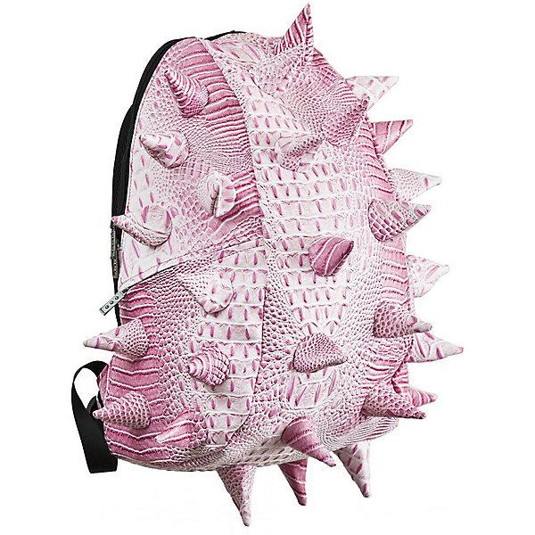Рюкзак Gator Full, цвет Sneak Pink (розовый)Рюкзаки<br>Характеристики товара:<br><br>• цвет: Sneak Pink (розовый);<br>• возраст: от 5 лет;<br>• вес: 0,8 кг;<br>• размер: 46х35х20 см;<br>• особенности модели: с пузырями;<br>• большое отделение на молнии;<br>• дополнительный карман на задней стенке рюкзака;<br>• мягкие регулируемые лямки;<br>• ортопедическая спинка с вентиляцией;<br>• два дополнительных боковых кармана на молнии;<br>• материал: поливинил;<br>• страна бренда: США;<br>• страна изготовитель: Китай.<br><br>Удобный рюкзак для детей Madpax «Gator Full» непременно понравится школьнику. Малый вес рюкзака позволяет ребенку носить с собой все необходимое для учебы, при этом не перегружая позвоночник. Стильный шипованный дизайн с имитацией кожи рептилий выделяют рюкзак Мэдпакс Гатор Фулл среди аналогичных моделей. <br><br>Удобное расположение дополнительных кармашков позволяет ребенку с легкостью доставать необходимые ему вещи. Специальная спинка рюкзака Гатор Фулл обеспечивает постоянную вентиляцию спины. Мягкие ремни регулируются в зависимости от роста ребенка. <br><br>Рюкзак Madpax «Gator Full» можно купить в нашем интернет-магазине.<br><br>Ширина мм: 460<br>Глубина мм: 350<br>Высота мм: 200<br>Вес г: 800<br>Возраст от месяцев: 60<br>Возраст до месяцев: 720<br>Пол: Унисекс<br>Возраст: Детский<br>SKU: 7054096