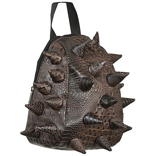 Сумка (ланч-бокс) Gator Nibbler, цвет Jurassic Brown (коричневый)Детские сумки<br>Характеристики товара:<br><br>• цвет: Jurassic Brown (коричневый);<br>• возраст: ;<br>• вес: 0,2 кг;<br>• размер: 30х23х15 см;<br>• особенности модели: с пузырями;<br>• большое отделение на молнии;<br>• наплечный ремень;<br>• материал: поливинил;<br>• страна бренда: США;<br>• страна изготовитель: Китай.<br><br>Оригинальная сумка ланч-бокс MadPax Gator Nibbler - это стильный и практичный аксессуар, который поможет сохранить вашу еду и напитки. Верх сумки выполнен из поливинила с тиснением под рептилию, шипы придают изделию неповторимый дизайн.<br><br>Сумка имеет одно основное отделение, которое закрывается на застежку-молнию. Внутренняя поверхность отделана специальным термоизолирующим материалом. Специальный кармашек на резинке очень удобен для напитков.<br>Сумка имеет длинный съемный регулируемый ремень, который позволяет носить ее через плечо, и дополнительную ручку для переноски. Сзади расположен кармашек из прозрачного ПВХ для визитки. <br><br>Рюкзак Madpax «Gator Nibbler» можно купить в нашем интернет-магазине.<br>Ширина мм: 300; Глубина мм: 230; Высота мм: 150; Вес г: 200; Возраст от месяцев: 0; Возраст до месяцев: 720; Пол: Унисекс; Возраст: Детский; SKU: 7054098;