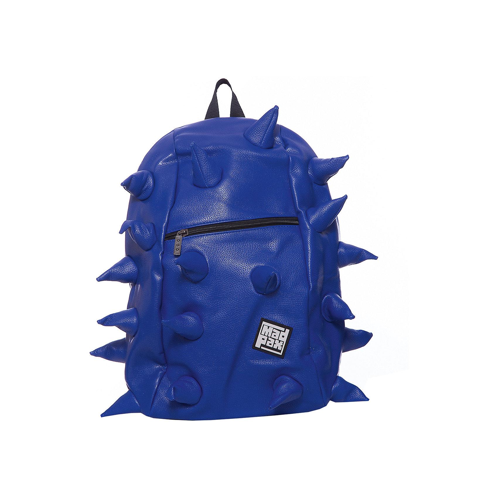 Рюкзак Rex VE  Full Front Zipper Navy, цвет синийРюкзаки<br>Характеристики товара:<br><br>• цвет: Front Zipper Navy (синий);<br>• возраст: от 5 лет;<br>• вес: 0,8 кг;<br>• размер: 46х36х20 см;<br>• особенности модели: с пузырями;<br>• одно основное отделение на молнии;<br>• мягкие воздухопроницаемые широкие лямки;<br>• ортопедическая спинка с мягкой обивкой;<br>• фронтальный карман на молнии;<br>• материал: полиуретан;<br>• страна бренда: США;<br>• страна изготовитель: Китай.<br><br>Стильный и практичный рюкзак уместный в ритме большого города. <br><br>Закрывается на молнию. Модель помимо лямки для переноски в руке, имеет мягкие и широкие регулируемые лямки. Стильное дополнение этой новинки является асимметричный карман на молнии спереди, что придает изделию дерзость и эффектность. Полностью вентилируемая и ортопедическая спинка создаёт дополнительный комфорт Вашей спине.<br><br>Рюкзак Madpax «Rex VE  Full» можно купить в нашем интернет-магазине.<br><br>Ширина мм: 460<br>Глубина мм: 360<br>Высота мм: 200<br>Вес г: 800<br>Возраст от месяцев: 60<br>Возраст до месяцев: 720<br>Пол: Унисекс<br>Возраст: Детский<br>SKU: 7054099
