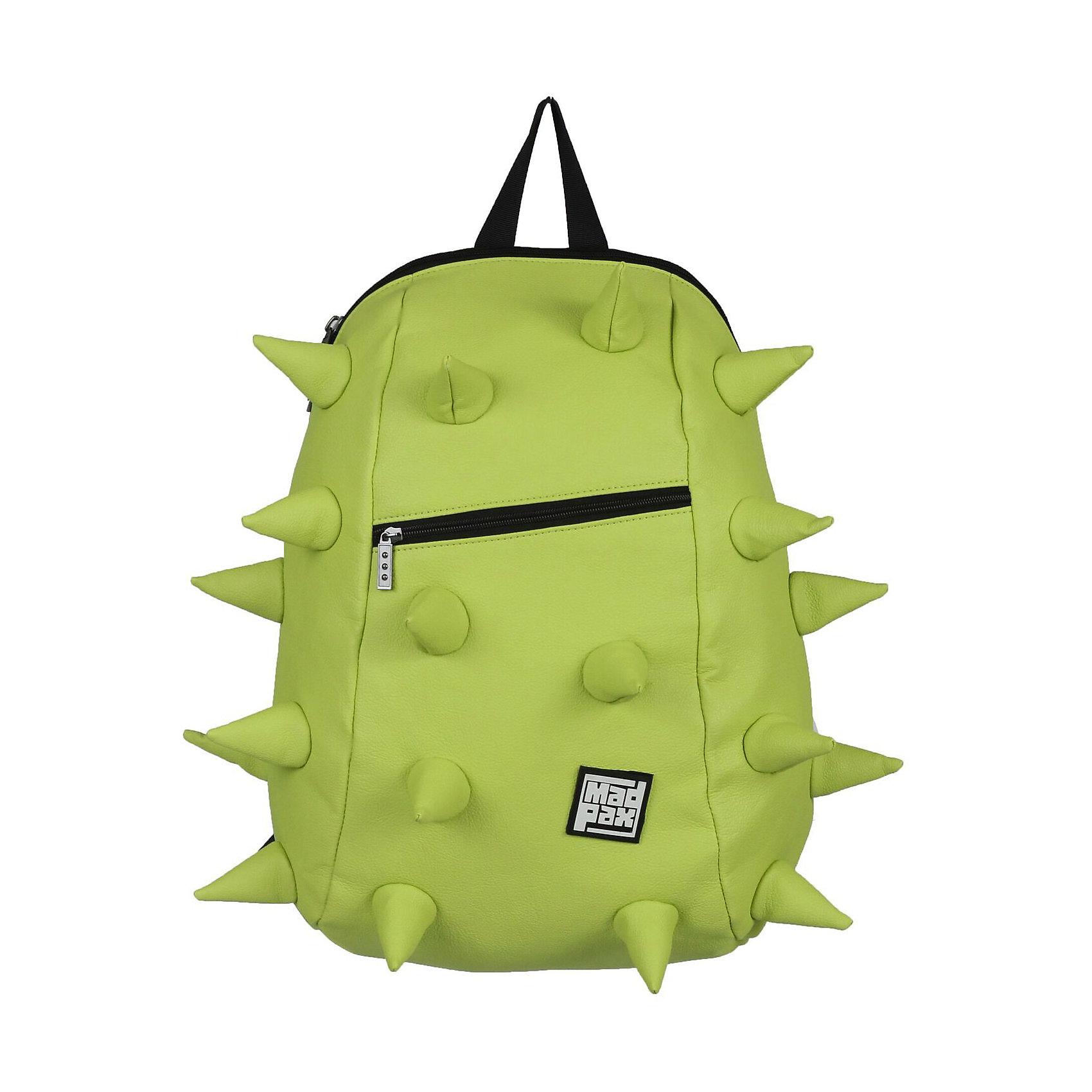 Рюкзак Rex VE  Full Front Zipper Lime, цвет лаймРюкзаки<br>Характеристики товара:<br><br>• цвет: Front Zipper Lime (лайм);<br>• возраст: от 5 лет;<br>• вес: 0,8 кг;<br>• размер: 46х36х20 см;<br>• особенности модели: с пузырями;<br>• одно основное отделение на молнии;<br>• мягкие воздухопроницаемые широкие лямки;<br>• ортопедическая спинка с мягкой обивкой;<br>• фронтальный карман на молнии;<br>• материал: полиуретан;<br>• страна бренда: США;<br>• страна изготовитель: Китай.<br><br>Стильный и практичный рюкзак уместный в ритме большого города. <br><br>Закрывается на молнию. Модель помимо лямки для переноски в руке, имеет мягкие и широкие регулируемые лямки. Стильное дополнение этой новинки является асимметричный карман на молнии спереди, что придает изделию дерзость и эффектность. Полностью вентилируемая и ортопедическая спинка создаёт дополнительный комфорт Вашей спине.<br><br>Рюкзак Madpax «Rex VE  Full» можно купить в нашем интернет-магазине.<br><br>Ширина мм: 460<br>Глубина мм: 360<br>Высота мм: 200<br>Вес г: 800<br>Возраст от месяцев: 60<br>Возраст до месяцев: 720<br>Пол: Унисекс<br>Возраст: Детский<br>SKU: 7054100