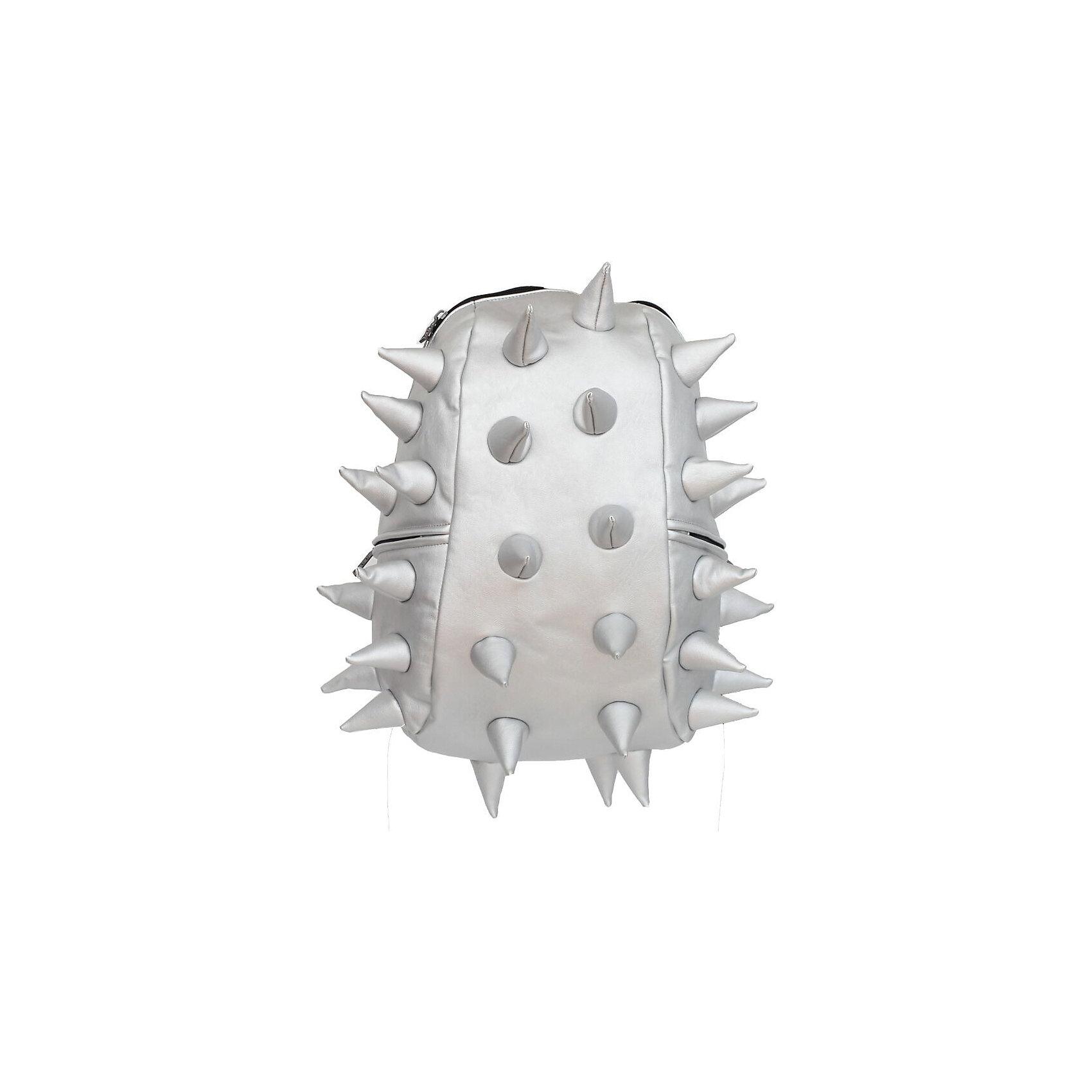 Рюкзак Rex Full Heavy Metal Spike Silver, цвет сереброРюкзаки<br>Вес: 0,8 кг<br>Размер: 46х35х20 см<br>Состав: рюкзак<br>Наличие светоотражающих элементов: нет<br>Материал: полиуретан<br><br>Ширина мм: 460<br>Глубина мм: 350<br>Высота мм: 200<br>Вес г: 800<br>Возраст от месяцев: 60<br>Возраст до месяцев: 720<br>Пол: Унисекс<br>Возраст: Детский<br>SKU: 7054101