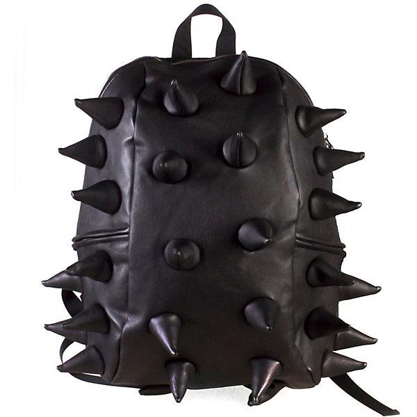Рюкзак Rex Half Heavy Metal Spike Black, цвет черныйРюкзаки<br>Характеристики товара:<br><br>• цвет: Heavy Metal Spike Black (черный);<br>• возраст: от 3 лет;<br>• вес: 0,6 кг;<br>• размер: 36х30х15 см;<br>• особенности модели: с пузырями;<br>• основное отделение на молнии;<br>• в основное отделение с легкостью входит ноутбук размером диагонали 13 дюймов, iPad и формат А4;<br>• мягкие регулируемые по высоте лямки;<br>•  вентилируемая и ортопедическая спинка;<br>• два дополнительных боковых кармана на молнии;<br>• материал: полиуретан;<br>• страна бренда: США;<br>• страна изготовитель: Китай.<br><br>Удобный рюкзак для детей Madpax «Rex Half» непременно понравится детям, которые уже ходят в школу. Малый вес рюкзака позволяет ребенку носить с собой все необходимое для учебы, при этом не перегружая позвоночник. <br><br>Удобное расположение дополнительных кармашков позволяет ребенку с легкостью доставать необходимые ему вещи. Специальная спинка рюкзака Рекс Халф обеспечивает постоянную вентиляцию спины малыша. Мягкие ремни регулируются в зависимости от роста ребенка. Рюкзак «Rex Half» – это стильная и удобная модель, которая предназначена для ежедневного ношения.<br><br>Рюкзак Madpax «Rex Half» можно купить в нашем интернет-магазине.<br><br>Ширина мм: 360<br>Глубина мм: 300<br>Высота мм: 150<br>Вес г: 600<br>Возраст от месяцев: 36<br>Возраст до месяцев: 720<br>Пол: Унисекс<br>Возраст: Детский<br>SKU: 7054103