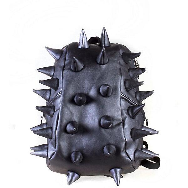 Рюкзак Rex Full Heavy Metal Spike Blue, цвет синийРюкзаки<br>Характеристики товара:<br><br>• цвет: Heavy Metal Spike Blue (синий);<br>• возраст: от 5 лет;<br>• вес: 0,8 кг;<br>• размер: 46х35х20 см;<br>• особенности модели: с пузырями;<br>• основное отделение на молнии;<br>• внутри изделия есть отделение для ноутбука с максимальным размером диагонали 17 дюймов;<br>• мягкие регулируемые по высоте лямки;<br>• вентилируемая и ортопедическая спинка;<br>• два дополнительных боковых кармана на молнии;<br>• материал: полиуретан;<br>• страна бренда: США;<br>• страна изготовитель: Китай.<br><br>Удобный рюкзак для детей Madpax «Rex Full» непременно понравится детям. Малый вес рюкзака позволяет ребенку носить с собой все необходимое для учебы, при этом не перегружая позвоночник.<br><br>Удобное расположение дополнительных кармашков позволяет ребенку с легкостью доставать необходимые ему вещи. Специальная спинка рюкзака Рекс Фулл обеспечивает постоянную вентиляцию спины. Мягкие ремни регулируются в зависимости от роста ребенка. Рюкзак «Rex Full» – это стильная и удобная модель, которая предназначена для ежедневного ношения. <br><br>Рюкзак Madpax «Rex Full» можно купить в нашем интернет-магазине.<br><br>Ширина мм: 460<br>Глубина мм: 350<br>Высота мм: 200<br>Вес г: 800<br>Возраст от месяцев: 60<br>Возраст до месяцев: 720<br>Пол: Унисекс<br>Возраст: Детский<br>SKU: 7054105