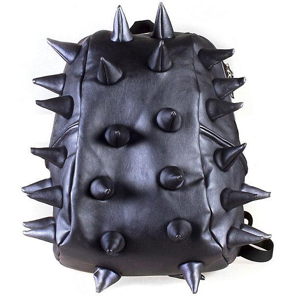 Рюкзак Rex Half Heavy Metal Spike Blue, цвет синийРюкзаки<br>Характеристики товара:<br><br>• цвет: Heavy Metal Spike Blue (синий);<br>• возраст: от 3 лет;<br>• вес: 0,6 кг;<br>• размер: 36х30х15 см;<br>• особенности модели: с пузырями;<br>• основное отделение на молнии;<br>• в основное отделение с легкостью входит ноутбук размером диагонали 13 дюймов, iPad и формат А4;<br>• мягкие регулируемые по высоте лямки;<br>•  вентилируемая и ортопедическая спинка;<br>• два дополнительных боковых кармана на молнии;<br>• материал: полиуретан;<br>• страна бренда: США;<br>• страна изготовитель: Китай.<br><br>Удобный рюкзак для детей Madpax «Rex Half» непременно понравится детям, которые уже ходят в школу. Малый вес рюкзака позволяет ребенку носить с собой все необходимое для учебы, при этом не перегружая позвоночник. <br><br>Удобное расположение дополнительных кармашков позволяет ребенку с легкостью доставать необходимые ему вещи. Специальная спинка рюкзака Рекс Халф обеспечивает постоянную вентиляцию спины малыша. Мягкие ремни регулируются в зависимости от роста ребенка. Рюкзак «Rex Half» – это стильная и удобная модель, которая предназначена для ежедневного ношения.<br><br>Рюкзак Madpax «Rex Half» можно купить в нашем интернет-магазине.<br><br>Ширина мм: 360<br>Глубина мм: 300<br>Высота мм: 150<br>Вес г: 600<br>Возраст от месяцев: 36<br>Возраст до месяцев: 720<br>Пол: Унисекс<br>Возраст: Детский<br>SKU: 7054106