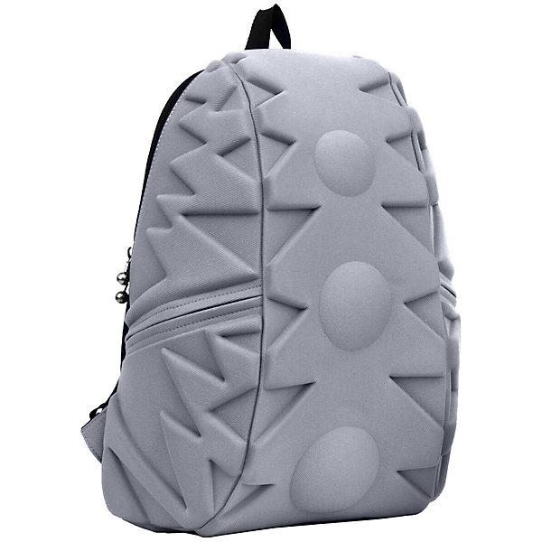 Рюкзак Exo Full, цвет Grey (серый)Рюкзаки<br>Характеристики товара:<br><br>• цвет: серый;<br>• возраст: от 5 лет;<br>• вес: 0,8 кг;<br>• размер: 46х36х20 см;<br>• одно отделение на молнии;<br>• вместительный (данная модель свободно вместит ноутбук с диагональю 17 дюймов или планшет).<br>• лямки регулируются по высоте;<br>• ортопедическая спинка;<br>• два кармана на молниях;<br>• материал: полиспандекс;<br>• страна бренда: США;<br>• страна изготовитель: Китай.<br><br>Madpax, Рюкзак «Exo Full» удивил новыми формами рисунка! Внутри много места для книг, ноутбука, папок формата А4.<br><br>По бокам рюкзака есть два кармана на молниях для мелочей. Лямки имеют мягкую текстуру и регулируются по высоте. Также на лямках есть ремешок-соединитель для удобства ношения. На спинке есть прозрачный карман-вставка для информации о хозяине. В целом, легкий и вместительный рюкзак с одним основным отделением на молнии. Спина не устанет, поскольку спинка имеет ортопедтческое основание. Что делает ношение рюкзака наиболее удобным и комфортным.<br><br>Рюкзак Madpax «Exo Full» можно купить в нашем интернет-магазине.<br><br>Ширина мм: 460<br>Глубина мм: 360<br>Высота мм: 200<br>Вес г: 800<br>Возраст от месяцев: 60<br>Возраст до месяцев: 720<br>Пол: Унисекс<br>Возраст: Детский<br>SKU: 7054110