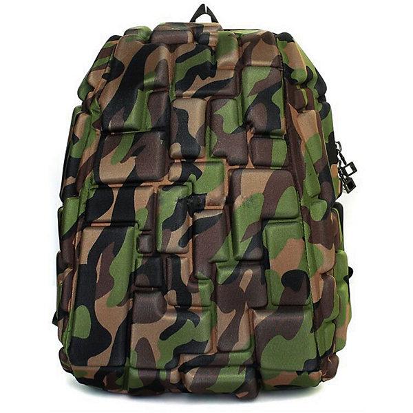Рюкзак Blok Half, цвет Camo камуфляжРюкзаки<br>Характеристики товара:<br><br>• цвет: Camo камуфляж;<br>• возраст: от 3 лет;<br>• вес: 0,6 кг;<br>• размер: 36х30х15 см;<br>• одно отделение на молнии;<br>• вместительный;<br>• лямки регулируются по высоте;<br>• ортопедическая спинка;<br>• карман - окошко для контактной информации;<br>• материал: полиспандекс;<br>• страна бренда: США;<br>• страна изготовитель: Китай.<br><br>Рюкзаки Madpax отличаются оригинальностью дизайна. Рельефное покрытие рюкзака «Blok Half» напоминает футуристические строительные блоки.<br><br>Он способен вместить практически все вещи владельца, внутри достаточно просторно. Эргономичные ручки дают возможность без лишних усилий переносить тяжелую сумку за спиной. Вентилируемым материал на ортопедической спинке создаст комфорт. Внутри 2 отделения: большое для основных вещей и отделение для папки формата А4 или планшета с диагональю до 13 дюймов. Этот рюкзак придаст индивидуальность его владельцу.<br><br>Рюкзак Madpax «Blok Half» можно купить в нашем интернет-магазине.<br>Ширина мм: 360; Глубина мм: 300; Высота мм: 150; Вес г: 600; Возраст от месяцев: 36; Возраст до месяцев: 720; Пол: Унисекс; Возраст: Детский; SKU: 7054111;