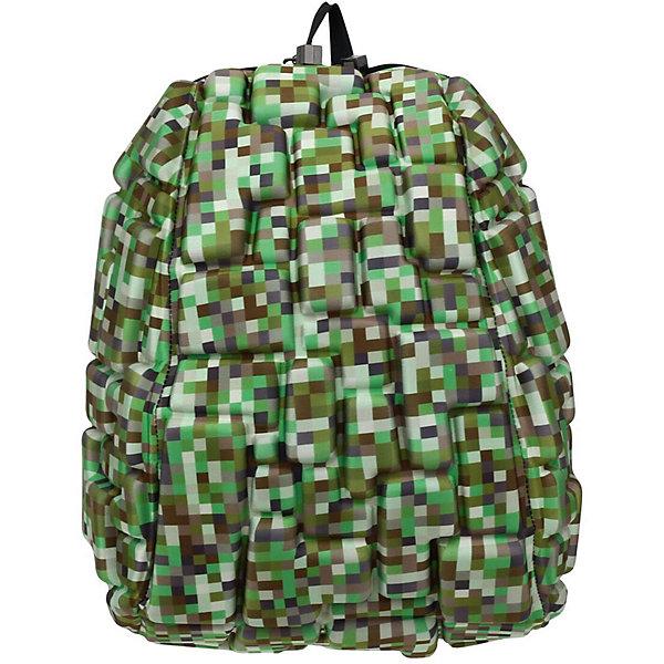 Рюкзак Blok Half Digital Green, цвет зеленый мультиРюкзаки<br>Характеристики товара:<br><br>• цвет: Digital Green (зеленый мульти);<br>• возраст: от 3 лет;<br>• вес: 0,6 кг;<br>• размер: 36х30х15 см;<br>• одно отделение на молнии;<br>• вместительный;<br>• лямки регулируются по высоте;<br>• ортопедическая спинка;<br>• карман - окошко для контактной информации;<br>• материал: полиспандекс;<br>• страна бренда: США;<br>• страна изготовитель: Китай.<br><br>Рюкзаки Madpax отличаются оригинальностью дизайна. Рельефное покрытие рюкзака «Blok Half» напоминает футуристические строительные блоки.<br><br>Он способен вместить практически все вещи владельца, внутри достаточно просторно. Эргономичные ручки дают возможность без лишних усилий переносить тяжелую сумку за спиной. Вентилируемым материал на ортопедической спинке создаст комфорт. Внутри 2 отделения: большое для основных вещей и отделение для папки формата А4 или планшета с диагональю до 13 дюймов. Этот рюкзак придаст индивидуальность его владельцу.<br><br>Рюкзак Madpax «Blok Half» можно купить в нашем интернет-магазине.<br>Ширина мм: 360; Глубина мм: 300; Высота мм: 150; Вес г: 600; Возраст от месяцев: 36; Возраст до месяцев: 720; Пол: Унисекс; Возраст: Детский; SKU: 7054113;