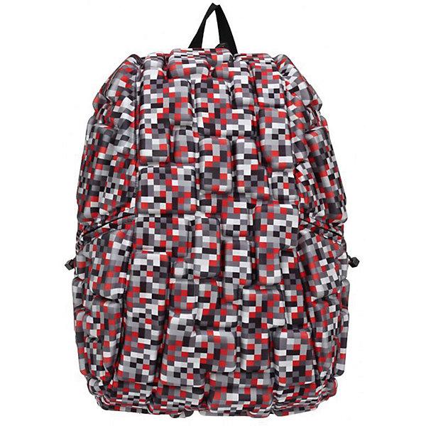 Рюкзак Blok Full Digital RED, цвет красный мультиРюкзаки<br>Характеристики товара:<br><br>• цвет: Digital Red (красный мульти);<br>• возраст: от 5 лет;<br>• вес: 0,8 кг;<br>• размер: 46х36х20 см;<br>• одно отделение на молнии;<br>• вместительный;<br>• лямки регулируются по высоте;<br>• ортопедическая спинка;<br>• карман - окошко для контактной информации;<br>• материал: полиспандекс;<br>• страна бренда: США;<br>• страна изготовитель: Китай.<br><br>Рюкзак Madpax не перепутаешь ни с каким другим рюкзаком! Его уникальность в неповторимом дизайне. Рельефное покрытие рюкзака «Blok Full» напоминает футуристические строительные блоки.<br><br>Просторный внутри, он способен вместить практически все вещи владельца. Наличие эргономичных ручек дает возможность без лишних усилий переносить тяжелую сумку за спиной. Лямки оснащены фиксатором в области груди. Ортопедическая спинка с вентилируемым материалом создаст комфорт. Внутри 2 отделения: большое для основных вещей и отделение для ноутбука или планшета с диагональю до 17 дюймов. По бокам - два дополнительных кармана на молнии для мелочей.<br><br>Рюкзак Madpax «Blok Full» можно купить в нашем интернет-магазине.<br>Ширина мм: 460; Глубина мм: 360; Высота мм: 200; Вес г: 800; Возраст от месяцев: 60; Возраст до месяцев: 720; Пол: Унисекс; Возраст: Детский; SKU: 7054114;