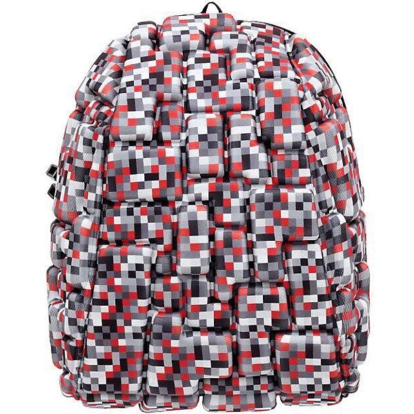 Рюкзак Blok Half Digital RED, цвет красный мультиРюкзаки<br>Характеристики товара:<br><br>• цвет: Digital Red (красный мульти);<br>• возраст: от 3 лет;<br>• вес: 0,6 кг;<br>• размер: 36х30х15 см;<br>• одно отделение на молнии;<br>• вместительный (данная модель свободно вместит планшет с диагональю 13 дюймов);<br>• лямки регулируются по высоте;<br>• ортопедическая спинка;<br>• карман - окошко для контактной информации;<br>• материал: полиспандекс;<br>• страна бренда: США;<br>• страна изготовитель: Китай.<br><br>Рюкзаки Madpax отличаются оригинальностью дизайна. Рельефное покрытие рюкзака «Blok Half» напоминает футуристические строительные блоки.<br><br>Он способен вместить практически все вещи владельца, внутри достаточно просторно. Эргономичные ручки дают возможность без лишних усилий переносить тяжелую сумку за спиной. Вентилируемым материал на ортопедической спинке создаст комфорт. Внутри 2 отделения: большое для основных вещей и отделение для папки формата А4 или планшета с диагональю до 13 дюймов. Этот рюкзак придаст индивидуальность его владельцу.<br><br>Рюкзак Madpax «Blok Half» можно купить в нашем интернет-магазине.<br>Ширина мм: 360; Глубина мм: 300; Высота мм: 150; Вес г: 600; Возраст от месяцев: 36; Возраст до месяцев: 720; Пол: Унисекс; Возраст: Детский; SKU: 7054115;