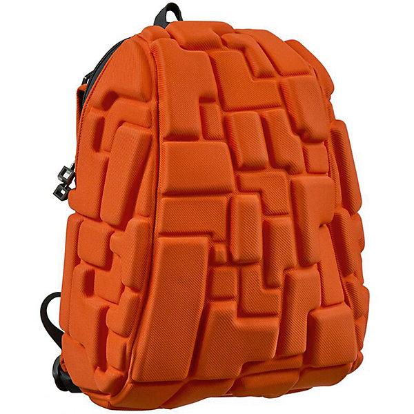 Рюкзак Blok Half, цвет Pass the OJ ( оранжевый)Рюкзаки<br>Характеристики товара:<br><br>• цвет:  Pass the OJ (оранжевый);<br>• возраст: от 3 лет;<br>• вес: 0,6 кг;<br>• размер: 36х30х15 см;<br>• одно отделение на молнии;<br>• вместительный;<br>• лямки регулируются по высоте;<br>• ортопедическая спинка;<br>• карман - окошко для контактной информации;<br>• материал: полиспандекс;<br>• страна бренда: США;<br>• страна изготовитель: Китай.<br><br>Рюкзаки Madpax отличаются оригинальностью дизайна. Рельефное покрытие рюкзака «Blok Half» напоминает футуристические строительные блоки.<br><br>Он способен вместить практически все вещи владельца, внутри достаточно просторно. Эргономичные ручки дают возможность без лишних усилий переносить тяжелую сумку за спиной. Вентилируемым материал на ортопедической спинке создаст комфорт. Внутри 2 отделения: большое для основных вещей и отделение для папки формата А4 или планшета с диагональю до 13 дюймов. Этот рюкзак придаст индивидуальность его владельцу.<br><br>Рюкзак Madpax «Blok Half» можно купить в нашем интернет-магазине.<br>Ширина мм: 360; Глубина мм: 300; Высота мм: 150; Вес г: 600; Возраст от месяцев: 36; Возраст до месяцев: 720; Пол: Унисекс; Возраст: Детский; SKU: 7054120;