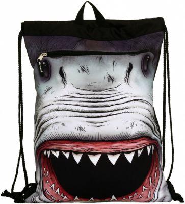 Mojo Pax Сумка-рюкзак SHARK Attack , с капюшоном, цвет черный/мульти