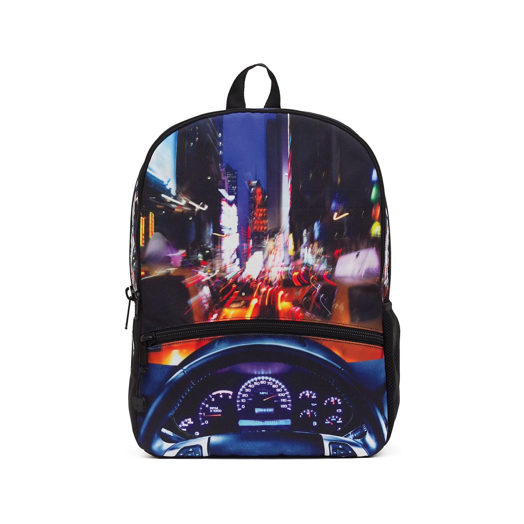 Рюкзак NYC Crusin LED со встроенными светодиодами, цвет мультиРюкзаки<br>Характеристики товара:<br><br>• цвет: мульти;<br>• возраст: от 10 лет;<br>• вес: 0,5 кг;<br>• размер: 43х30х16 см;<br>• выполнен из водоотталкивающей ткани с полиуретановым слоем;<br>• вместительный;<br>• внутри два отделения;<br>• прочная текстильная ручка;<br>• лямки регулируются по высоте;<br>• ремни, спинка и дно рюкзака сделаны из уплотненной ткани;<br>• материал: полиэстер;<br>• страна бренда: США;<br>• страна изготовитель: Китай.<br><br>Стильный и невероятно удобный рюкзак Mojo Pax пригодится и в школе, и на тренировке, а также в поездке. <br><br>Рюкзак с изображением Нью-Йорка украшен встроенными светодиодами (работают от батареек). Лампочки будут светиться и мигать при движении. Как только вы остановитесь, рюкзак успокоится вместе с вами.<br><br>Рюкзак Mojo Pax «NYC Crusin LED» можно купить в нашем интернет-магазине.<br><br>Ширина мм: 430<br>Глубина мм: 300<br>Высота мм: 160<br>Вес г: 500<br>Возраст от месяцев: 120<br>Возраст до месяцев: 720<br>Пол: Унисекс<br>Возраст: Детский<br>SKU: 7054130