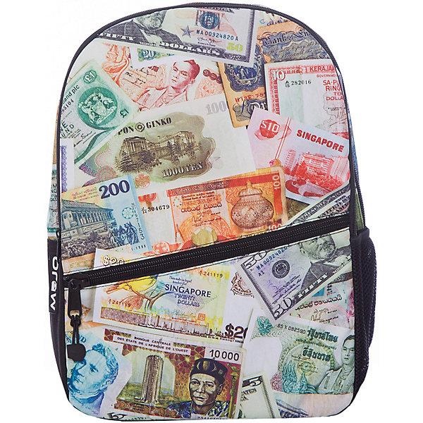 Рюкзак Paper Money, цвет мультиРюкзаки<br>Характеристики товара:<br><br>• цвет: мульти;<br>• возраст: от 10 лет;<br>• вес: 0,5 кг;<br>• размер: 43х30х16 см;<br>• выполнен из водоотталкивающей ткани с полиуретановым слоем;<br>• вместительный;<br>• внутри два отделения;<br>• прочная текстильная ручка;<br>• лямки регулируются по высоте;<br>• ремни, спинка и дно рюкзака сделаны из уплотненной ткани;<br>• материал: полиэстер;<br>• страна бренда: США;<br>• страна изготовитель: Китай.<br><br>Функциональный и вместительный, рюкзак привлекает внимание позитивным ярким, не похожим ни на кого принтом. <br><br>Вместительный отсек для вещей, а также отсек для планшета с плотной подкладкой. Переносить рюкзак удобно за прочную текстильную ручку.<br><br>Рюкзак Mojo Pax «Paper Money» можно купить в нашем интернет-магазине.<br>Ширина мм: 430; Глубина мм: 300; Высота мм: 160; Вес г: 500; Возраст от месяцев: 120; Возраст до месяцев: 720; Пол: Унисекс; Возраст: Детский; SKU: 7054132;