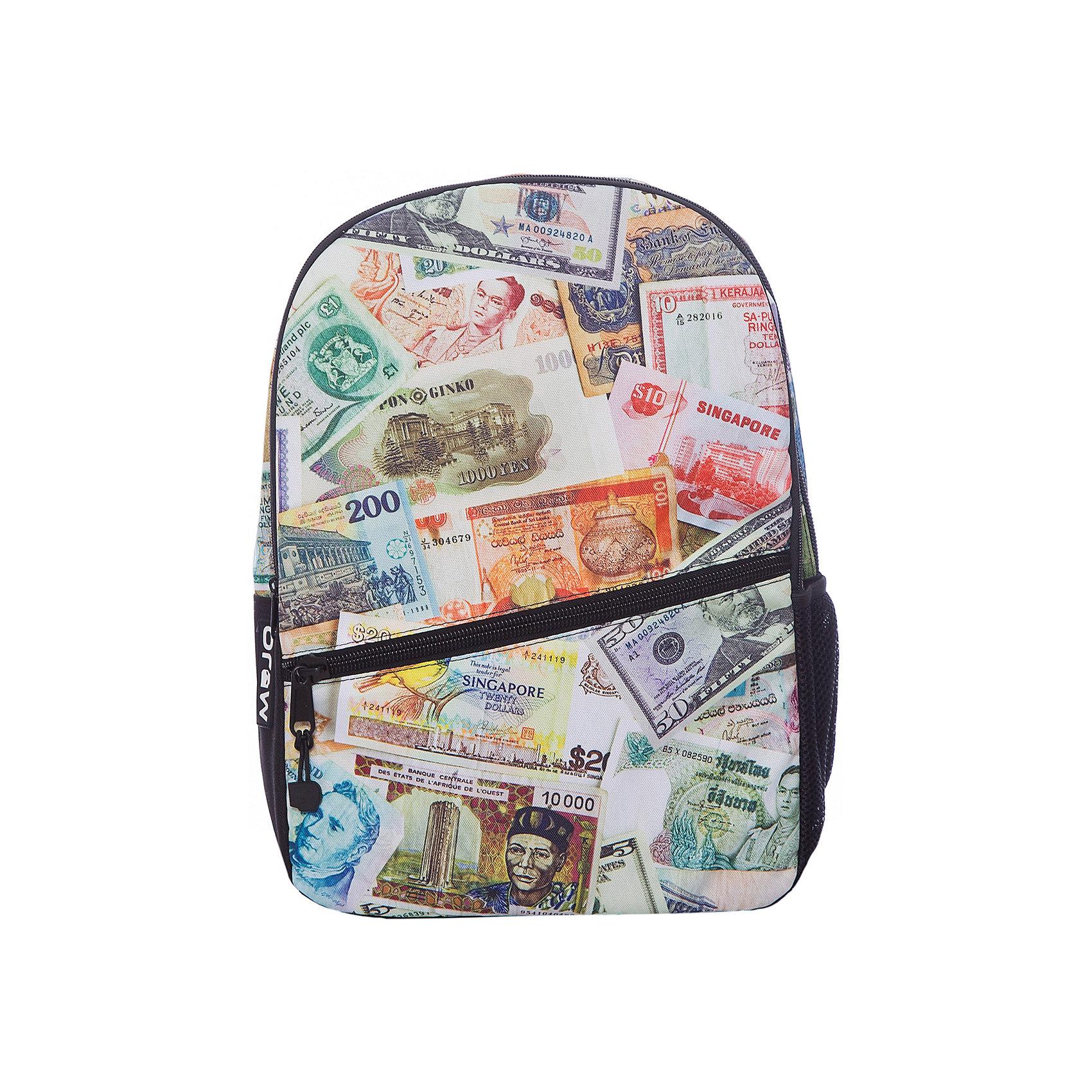 Рюкзак Paper Money, цвет мультиРюкзаки<br>Характеристики товара:<br><br>• цвет: мульти;<br>• возраст: от 10 лет;<br>• вес: 0,5 кг;<br>• размер: 43х30х16 см;<br>• выполнен из водоотталкивающей ткани с полиуретановым слоем;<br>• вместительный;<br>• внутри два отделения;<br>• прочная текстильная ручка;<br>• лямки регулируются по высоте;<br>• ремни, спинка и дно рюкзака сделаны из уплотненной ткани;<br>• материал: полиэстер;<br>• страна бренда: США;<br>• страна изготовитель: Китай.<br><br>Функциональный и вместительный, рюкзак привлекает внимание позитивным ярким, не похожим ни на кого принтом. <br><br>Вместительный отсек для вещей, а также отсек для планшета с плотной подкладкой. Переносить рюкзак удобно за прочную текстильную ручку.<br><br>Рюкзак Mojo Pax «Paper Money» можно купить в нашем интернет-магазине.<br><br>Ширина мм: 430<br>Глубина мм: 300<br>Высота мм: 160<br>Вес г: 500<br>Возраст от месяцев: 120<br>Возраст до месяцев: 720<br>Пол: Унисекс<br>Возраст: Детский<br>SKU: 7054132