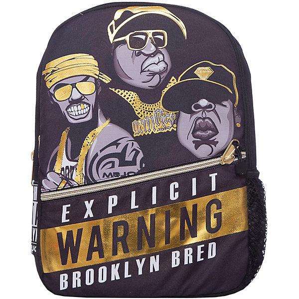 Рюкзак Straight Outta Brooklyn: Rappers, цвет черный/желтыйРюкзаки<br>Характеристики товара:<br><br>• цвет: черный / желтый;<br>• возраст: от 10 лет;<br>• вес: 0,5 кг;<br>• размер: 43х30х16 см;<br>• сделан из прочного влагостойкого полиэстера;<br>• не выгорает от воздействия ультрафиолета;<br>• вместительный внутренний отсек с карманами;<br>• два отделения на молнии;<br>• фронтальный карман на молнии;<br>• уплотненная спинка;<br>• прочная текстильная ручка;<br>• подвесная система регулировки лямок;<br>• материал: полиэстер;<br>• страна бренда: США;<br>• страна изготовитель: Китай.<br><br>Характерный принт от Mojo привлечет максимум внимания. Аксессуар смотрится органично, благодаря его цветовой гамме. <br><br>Вместительный внутренний отсек с карманами. Усиленная спинка и дно рюкзака, мягкие удобные регулируемые лямки.<br><br>Рюкзак Mojo Pax «Straight Outta Brooklyn: Rappers» можно купить в нашем интернет-магазине.<br>Ширина мм: 430; Глубина мм: 300; Высота мм: 160; Вес г: 500; Возраст от месяцев: 120; Возраст до месяцев: 720; Пол: Унисекс; Возраст: Детский; SKU: 7054133;