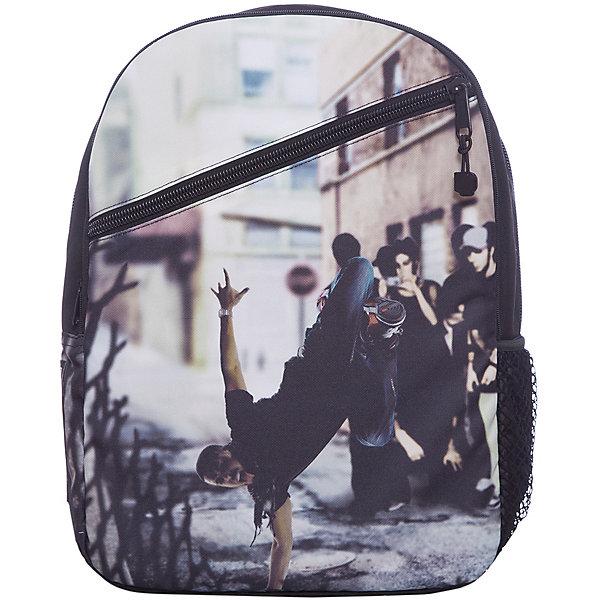 Рюкзак Straight Outta Brooklyn: Breakdance, цвет мультиРюкзаки<br>Характеристики товара:<br><br>• цвет: мульти;<br>• возраст: от 10 лет;<br>• вес: 0,5 кг;<br>• размер: 43х30х16 см;<br>• сделан из прочного влагостойкого полиэстера;<br>• не выгорает от воздействия ультрафиолета;<br>• вместительный внутренний отсек с карманами;<br>• два отделения на молнии;<br>• фронтальный карман на молнии;<br>• уплотненная спинка;<br>• прочная текстильная ручка;<br>• подвесная система регулировки лямок;<br>• материал: полиэстер;<br>• страна бренда: США;<br>• страна изготовитель: Китай.<br><br>Рюкзак от Mojo прекрасно сочетает в себе черты спорта и динамичного городского стиля. Расцветка и внешний вид рюкзака смотрится стильно и оригинально.<br><br>Большие и удобные застежки на молниях позволят легко открыть отдел или карман. Передний отдел с мягкой стенкой, подойдет для переноски ноутбука. Мягкие и сетчатые лямки оптимально распределят нагрузки и обеспечат идеальную вентиляцию. В боковой карман проветриваемый благодаря сетке, можно поместить бутылку для питья. <br><br>Рюкзак Mojo Pax «Straight Outta Brooklyn: Breakdance» можно купить в нашем интернет-магазине.<br>Ширина мм: 430; Глубина мм: 300; Высота мм: 160; Вес г: 500; Возраст от месяцев: 120; Возраст до месяцев: 720; Пол: Унисекс; Возраст: Детский; SKU: 7054134;