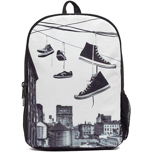 Рюкзак Straight Outta Brooklyn: Hanging Shoes, цвет мультиРюкзаки<br>Характеристики товара:<br><br>• цвет: мульти;<br>• возраст: от 10 лет;<br>• вес: 0,5 кг;<br>• размер: 43х30х16 см;<br>• сделан из прочного влагостойкого полиэстера;<br>• вместительный внутренний отсек;<br>• два отделения на молнии;<br>• уплотненная спинка;<br>• прочная текстильная ручка;<br>• подвесная система регулировки лямок;<br>• материал: полиэстер;<br>• страна бренда: США;<br>• страна изготовитель: Китай.<br><br>Стильный рюкзак с яркой расцветкой предназначен для студентов, школьников и всех любителей носить сумки за спиной.<br><br>Передний отдел с мягкой стенкой, подойдет для переноски ноутбука. Мягкие и сетчатые лямки оптимально распределят нагрузки и обеспечат идеальную вентиляцию. В боковой карман проветриваемый благодаря сетке, можно поместить бутылку для питья. <br><br>Рюкзак Mojo Pax «Straight Outta Brooklyn: Hanging Shoes» можно купить в нашем интернет-магазине.<br><br>Ширина мм: 430<br>Глубина мм: 300<br>Высота мм: 160<br>Вес г: 500<br>Возраст от месяцев: 120<br>Возраст до месяцев: 720<br>Пол: Унисекс<br>Возраст: Детский<br>SKU: 7054135
