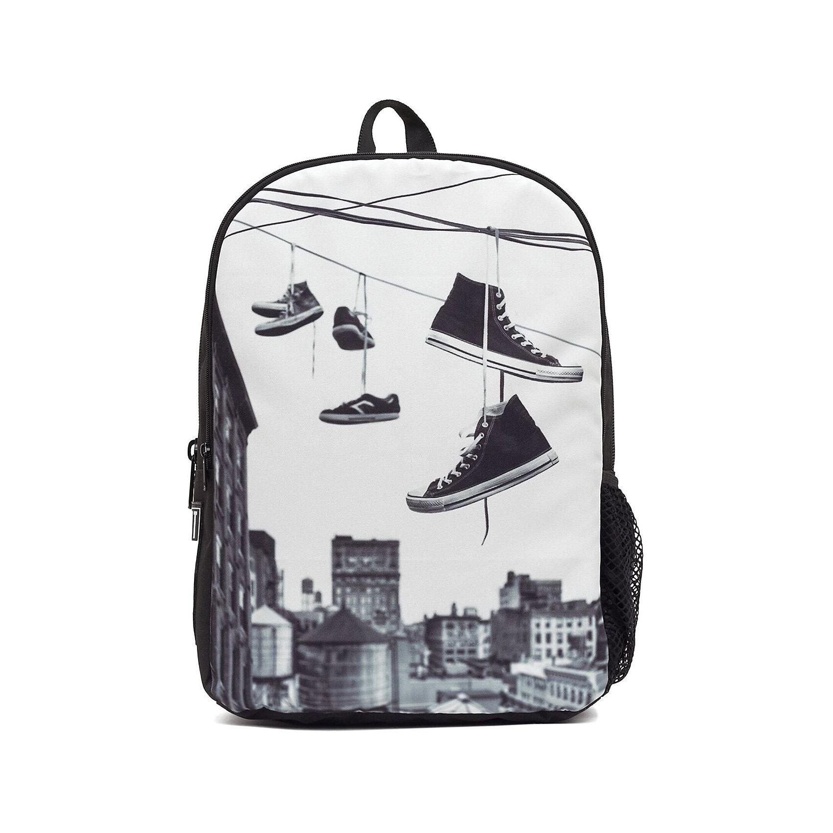 Рюкзак Straight Outta Brooklyn: Hanging Shoes, цвет мультиРюкзаки<br>Вес: 0,5 кг<br>Размер: 43х30х16 см<br>Состав: рюкзак<br>Наличие светоотражающих элементов: нет<br>Материал: полиэстер<br><br>Ширина мм: 430<br>Глубина мм: 300<br>Высота мм: 160<br>Вес г: 500<br>Возраст от месяцев: 120<br>Возраст до месяцев: 720<br>Пол: Унисекс<br>Возраст: Детский<br>SKU: 7054135