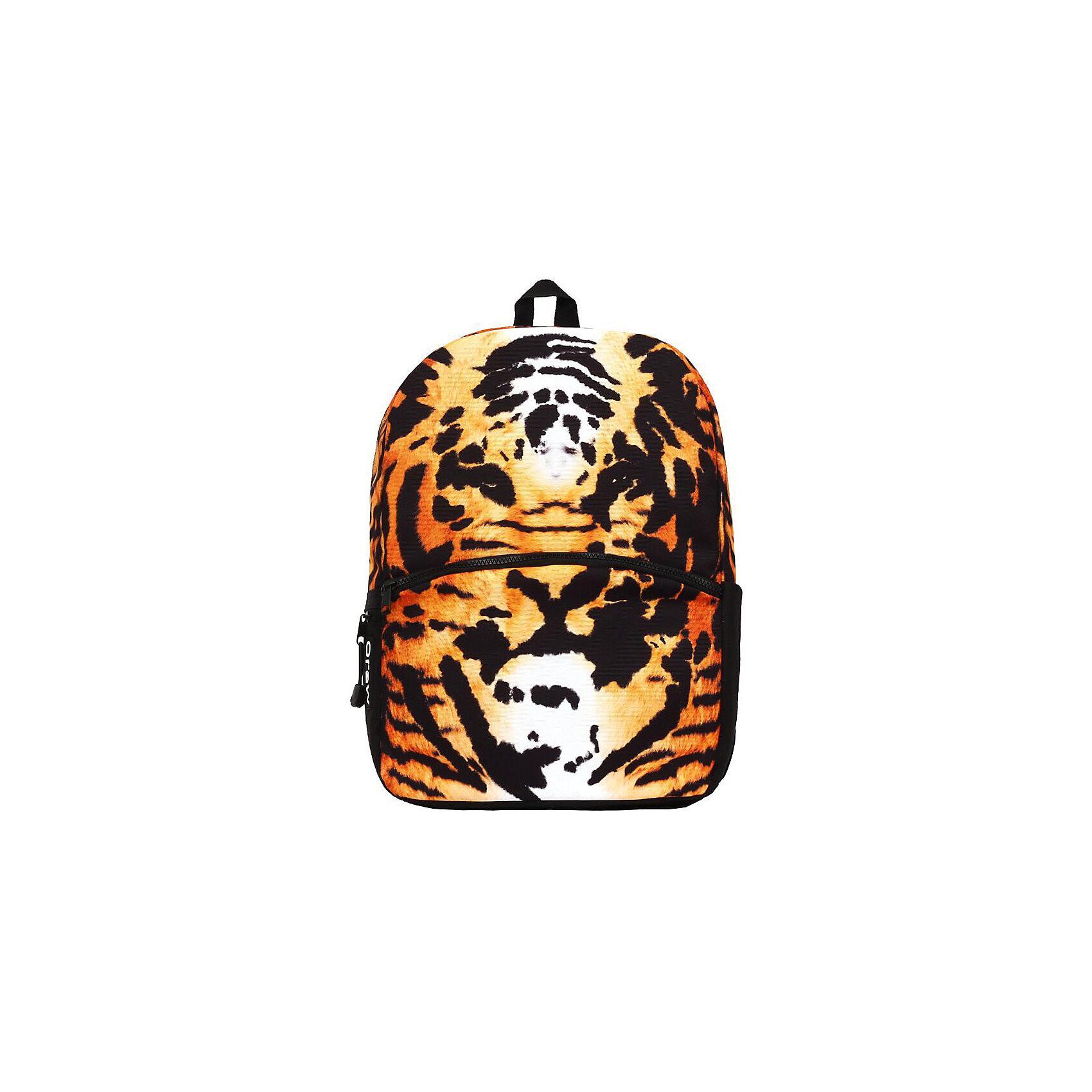 Рюкзак Tiger, цвет мультиРюкзаки<br>Вес: 0,5 кг<br>Размер: 43х30х16 см<br>Состав: рюкзак<br>Наличие светоотражающих элементов: нет<br>Материал: полиэстер<br><br>Ширина мм: 430<br>Глубина мм: 300<br>Высота мм: 160<br>Вес г: 500<br>Возраст от месяцев: 120<br>Возраст до месяцев: 720<br>Пол: Унисекс<br>Возраст: Детский<br>SKU: 7054141