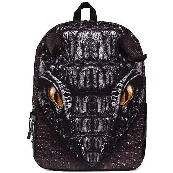 Рюкзак Black Dragon, цвет черныйРюкзаки<br>Характеристики товара:<br><br>• цвет: черный;<br>• возраст: от 10 лет;<br>• вес: 0,5 кг;<br>• размер: 43х30х16 см;<br>• водонепроницаемая ткань;<br>• светится в ультрафиолете;<br>• внутри два отделения;<br>• фирменная массивная молния Mojo;<br>• отсек для планшета;<br>• текстильная ручка;<br>• ремни, спинка и дно рюкзака сделаны из уплотненной ткани;<br>• мягкие регулируемые лямки;<br>• материал: полиэстер;<br>• страна бренда: США;<br>• страна изготовитель: Китай.<br><br>Рюкзак «Black Dragon» чёрного цвета исполнен в виде головы дракона с огромными выразительными глазами. Чёрный текстиль с имитацией его кожи, торчащие рога создают объёмный эффект.<br><br>Он выполнен из высококачественного полиэстера и покрыт полиуретановым слоем, который защищает рисунок от выцветания, а также обеспечивает влагонепроницаемость. Внутри два отделения: большое для вещей и поменьше с плотной подкладкой для планшета. Переносить рюкзак удобно за прочную текстильную ручку.<br><br>Рюкзак Mojo Pax «Black Dragon» можно купить в нашем интернет-магазине.<br>Ширина мм: 430; Глубина мм: 300; Высота мм: 160; Вес г: 500; Возраст от месяцев: 120; Возраст до месяцев: 720; Пол: Унисекс; Возраст: Детский; SKU: 7054142;