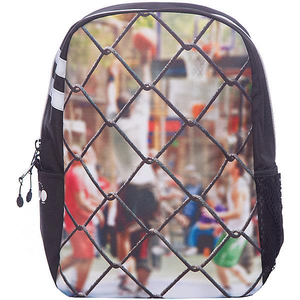 Рюкзак Sport Сетка, цвет мультиРюкзаки<br>Характеристики товара:<br><br>• цвет: мульти;<br>• возраст: от 10 лет;<br>• вес: 0,5 кг;<br>• размер: 43х30х16 см;<br>• рюкзак выполнен из водоотталкивающей ткани;<br>• внутри два отделения;<br>• отсек для планшета;<br>• прочная текстильная ручка;<br>• ремни, спинка и дно рюкзака сделаны из уплотненной ткани;<br>• мягкие регулируемые лямки;<br>• материал: полиэстер;<br>• страна бренда: США;<br>• страна изготовитель: Китай.<br><br>Стильный рюкзак превосходно подойдёт для активного подростка от 10 до 16 лет. Модель имеет динамичный дизайн и украшена ярким принтом с изображением сетки и игроков за ней. <br><br>Внутри предусмотрен уплотнённый отсек для планшета, ремни, спинка и дно рюкзака также уплотнены. Текстиль имеет водоотталкивающий слой. Светится в ультрафиолете.<br><br>Рюкзак Mojo Pax «Sport Сетка» можно купить в нашем интернет-магазине.<br>Ширина мм: 430; Глубина мм: 300; Высота мм: 160; Вес г: 500; Возраст от месяцев: 120; Возраст до месяцев: 720; Пол: Унисекс; Возраст: Детский; SKU: 7054144;