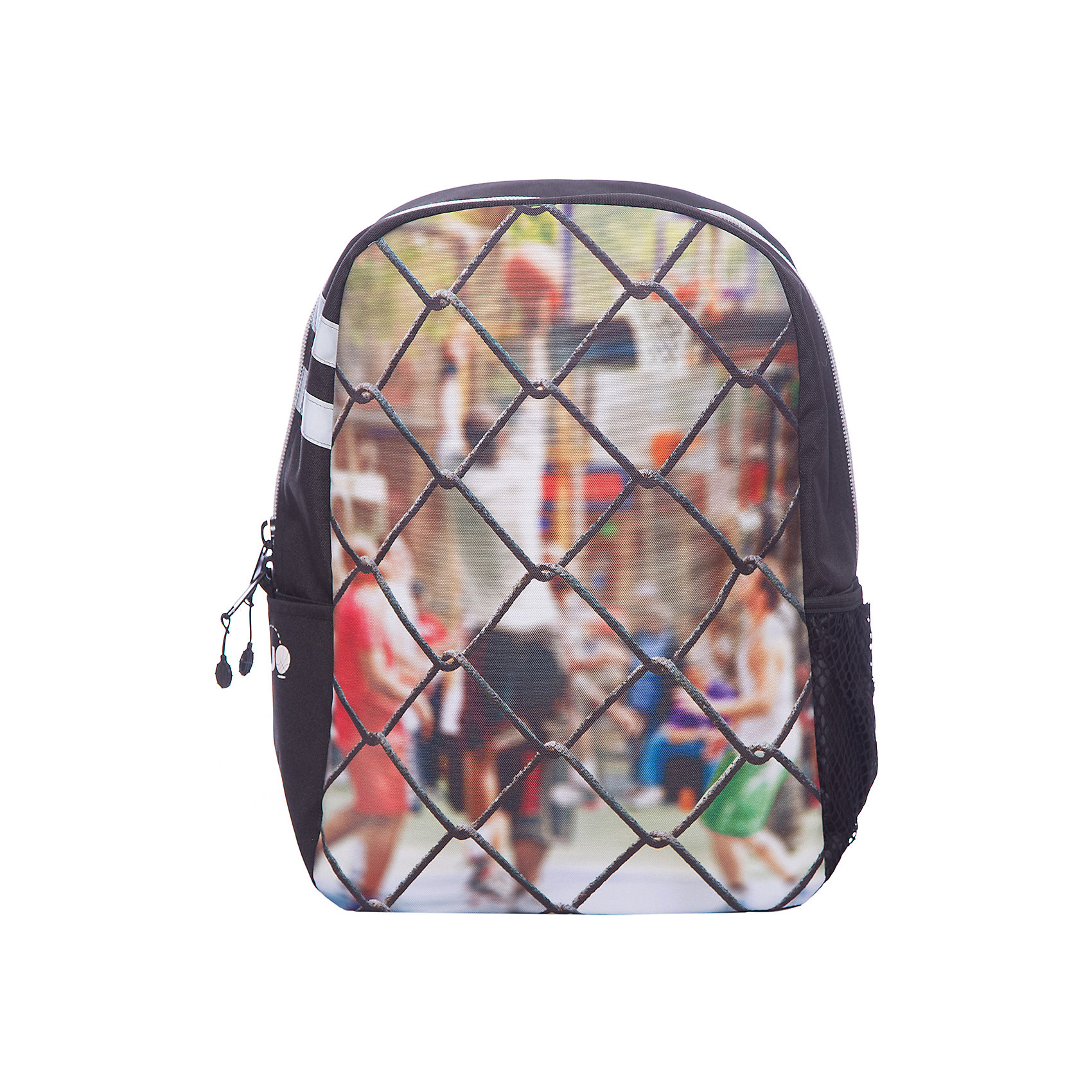 Рюкзак Sport Сетка, цвет мультиРюкзаки<br>Характеристики товара:<br><br>• цвет: мульти;<br>• возраст: от 10 лет;<br>• вес: 0,5 кг;<br>• размер: 43х30х16 см;<br>• рюкзак выполнен из водоотталкивающей ткани;<br>• внутри два отделения;<br>• отсек для планшета;<br>• прочная текстильная ручка;<br>• ремни, спинка и дно рюкзака сделаны из уплотненной ткани;<br>• мягкие регулируемые лямки;<br>• материал: полиэстер;<br>• страна бренда: США;<br>• страна изготовитель: Китай.<br><br>Стильный рюкзак превосходно подойдёт для активного подростка от 10 до 16 лет. Модель имеет динамичный дизайн и украшена ярким принтом с изображением сетки и игроков за ней. <br><br>Внутри предусмотрен уплотнённый отсек для планшета, ремни, спинка и дно рюкзака также уплотнены. Текстиль имеет водоотталкивающий слой. Светится в ультрафиолете.<br><br>Рюкзак Mojo Pax «Sport Сетка» можно купить в нашем интернет-магазине.<br><br>Ширина мм: 430<br>Глубина мм: 300<br>Высота мм: 160<br>Вес г: 500<br>Возраст от месяцев: 120<br>Возраст до месяцев: 720<br>Пол: Унисекс<br>Возраст: Детский<br>SKU: 7054144