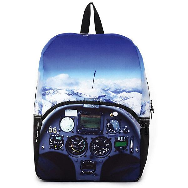 Рюкзак Cockpit, цвет (черный/мульти)Рюкзаки<br>Характеристики товара:<br><br>• цвет: мульти;<br>• возраст: от 10 лет;<br>• вес: 0,5 кг;<br>• размер: 43х30х16 см;<br>• рюкзак выполнен из водоотталкивающей ткани;<br>• большое основное отделение с органайзером;<br>• внутреннее уплотненное отделение для планшета;<br>• внешний карман на молнии;<br>• два боковых кармана на молнии;<br>• прочная текстильная ручка;<br>• усиленная спинка и дно рюкзака;<br>• мягкие регулируемые лямки;<br>• материал: полиэстер;<br>• страна бренда: США;<br>• страна изготовитель: Китай.<br><br>Рюкзак «Cockpit» от американского бренда Mojo Pax дает свободу самовыражения! На него нанесен реалистичный детализированный принт с изображением потрясающего вида, открывающегося из кабины пилота.<br><br>Внутри предусмотрен уплотнённый отсек для планшета, ремни, спинка и дно рюкзака также уплотнены. Текстиль имеет водоотталкивающий слой. Принт на рюкзаке светится в ультрафиолете.<br><br>Рюкзак Mojo Pax «Cockpit» можно купить в нашем интернет-магазине.<br>Ширина мм: 430; Глубина мм: 300; Высота мм: 160; Вес г: 500; Возраст от месяцев: 120; Возраст до месяцев: 720; Пол: Унисекс; Возраст: Детский; SKU: 7054145;