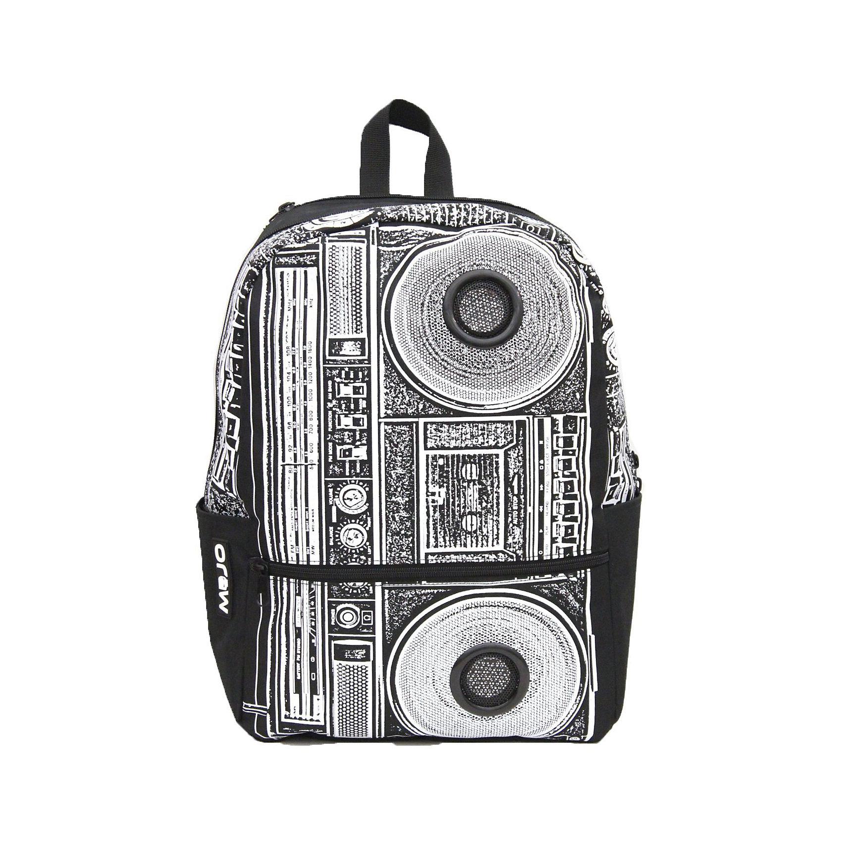 Рюкзак BOOMBOX, цвет черный/белыйРюкзаки<br>Вес: 0,5 кг<br>Размер: 43х31х18 см<br>Состав: рюкзак<br>Наличие светоотражающих элементов: нет<br>Материал: полиэстер<br><br>Ширина мм: 430<br>Глубина мм: 310<br>Высота мм: 180<br>Вес г: 500<br>Возраст от месяцев: 120<br>Возраст до месяцев: 720<br>Пол: Унисекс<br>Возраст: Детский<br>SKU: 7054146