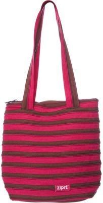Zipit Сумка Premium Tote/Beach Bag, цвет розовый/коричневый