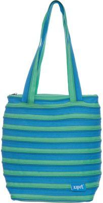 Zipit Сумка Premium Tote/Beach Bag, цвет голубой/салатовый