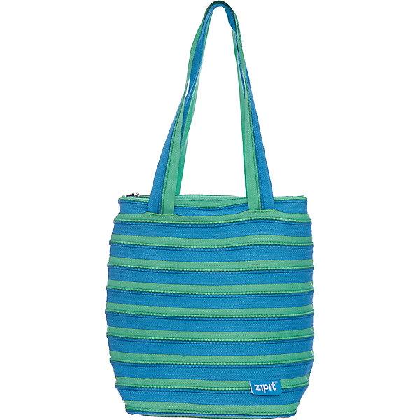 Сумка Premium Tote/Beach Bag, цвет голубой/салатовыйДетские сумки<br>Характеристики товара:<br><br>• цвет: голубой/салатовый;<br>• возраст: от 7 лет;<br>• вес: 0,2 кг;<br>• размер: 28х10х28 см;<br>• сумочка имеет одно вместительное отделение;<br>• изготовлена из застежки-молнии;<br>• молнию можно полностью расстегнуть;<br>• удлиненные ручки для переноски в руке или на плече;<br>• материал: полиэстер;<br>• страна бренда: США;<br>• страна изготовитель: Китай.<br><br>Молодежная сумка Zipit «Premium Tote Beach Bag» очень необычная. Она сделана из молнии! Молния закручена по спирали и это делает сумку совершенно уникальной. При этом сумка очень функциональная и легка в уходе.<br><br>Сумку «Premium Tote Beach Bag» можно купить в нашем интернет-магазине.<br>Ширина мм: 280; Глубина мм: 100; Высота мм: 280; Вес г: 200; Возраст от месяцев: 84; Возраст до месяцев: 180; Пол: Унисекс; Возраст: Детский; SKU: 7054152;