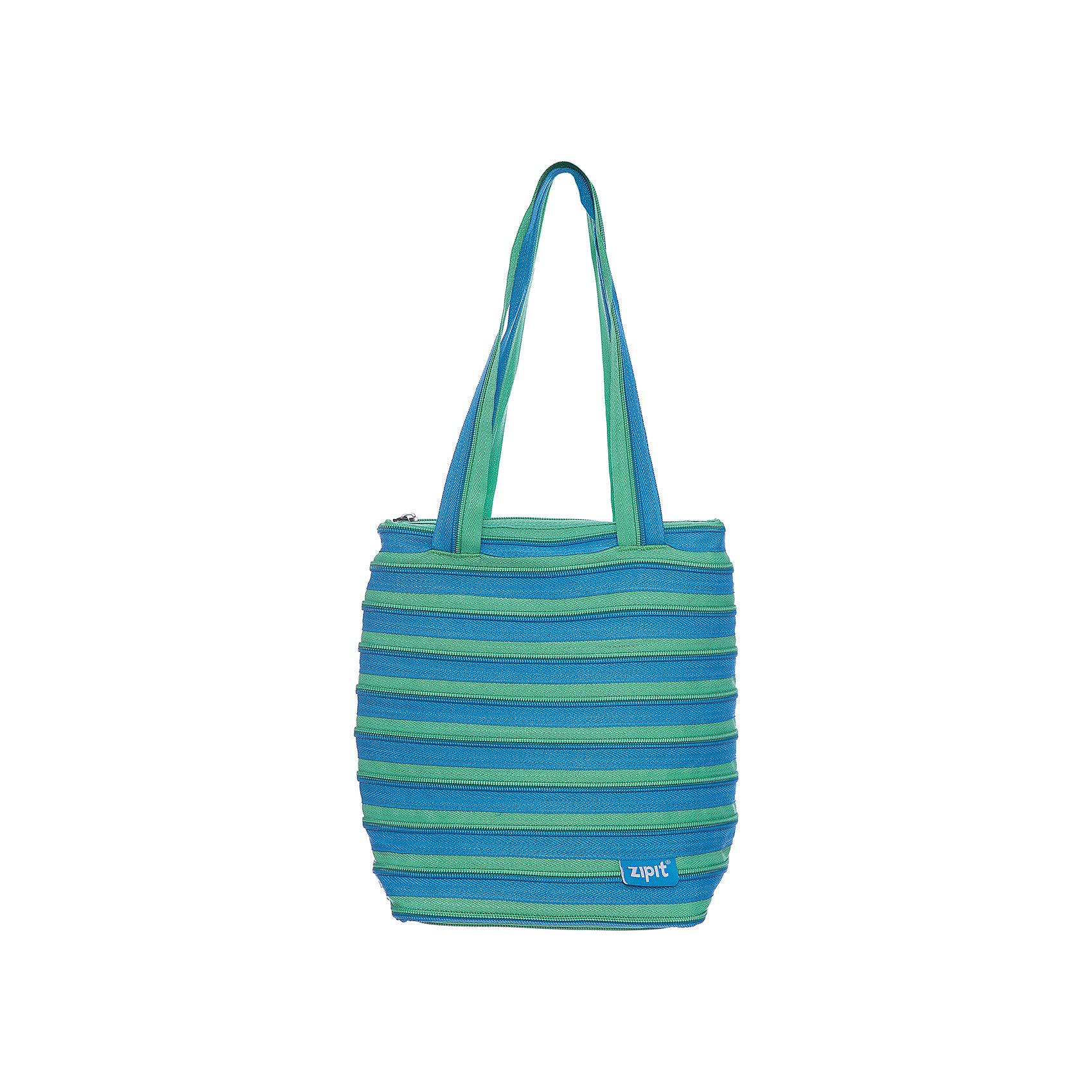 Сумка Premium Tote/Beach Bag, цвет голубой/салатовыйДетские сумки<br>Характеристики товара:<br><br>• цвет: голубой/салатовый;<br>• возраст: от 7 лет;<br>• вес: 0,2 кг;<br>• размер: 28х10х28 см;<br>• сумочка имеет одно вместительное отделение;<br>• изготовлена из застежки-молнии;<br>• молнию можно полностью расстегнуть;<br>• удлиненные ручки для переноски в руке или на плече;<br>• материал: полиэстер;<br>• страна бренда: США;<br>• страна изготовитель: Китай.<br><br>Молодежная сумка Zipit «Premium Tote Beach Bag» очень необычная. Она сделана из молнии! Молния закручена по спирали и это делает сумку совершенно уникальной. При этом сумка очень функциональная и легка в уходе.<br><br>Сумку «Premium Tote Beach Bag» можно купить в нашем интернет-магазине.<br><br>Ширина мм: 280<br>Глубина мм: 100<br>Высота мм: 280<br>Вес г: 200<br>Возраст от месяцев: 84<br>Возраст до месяцев: 180<br>Пол: Унисекс<br>Возраст: Детский<br>SKU: 7054152