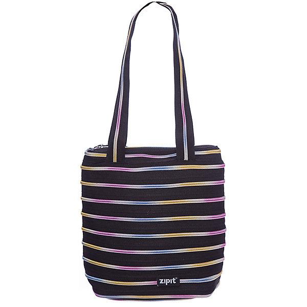 Сумка Premium Tote/Beach Bag, цвет черный/мультиДетские сумки<br>Характеристики товара:<br><br>• цвет: черный/мульти;<br>• возраст: от 7 лет;<br>• вес: 0,2 кг;<br>• размер: 28х10х28 см;<br>• сумочка имеет одно вместительное отделение;<br>• изготовлена из застежки-молнии;<br>• молнию можно полностью расстегнуть;<br>• удлиненные ручки для переноски в руке или на плече;<br>• материал: полиэстер;<br>• страна бренда: США;<br>• страна изготовитель: Китай.<br><br>Молодежная сумка Zipit «Premium Tote Beach Bag» очень необычная. Она сделана из молнии! Молния закручена по спирали и это делает сумку совершенно уникальной. При этом сумка очень функциональная и легка в уходе.<br><br>Сумку «Premium Tote Beach Bag» можно купить в нашем интернет-магазине.<br>Ширина мм: 280; Глубина мм: 100; Высота мм: 280; Вес г: 200; Возраст от месяцев: 84; Возраст до месяцев: 180; Пол: Унисекс; Возраст: Детский; SKU: 7054153;